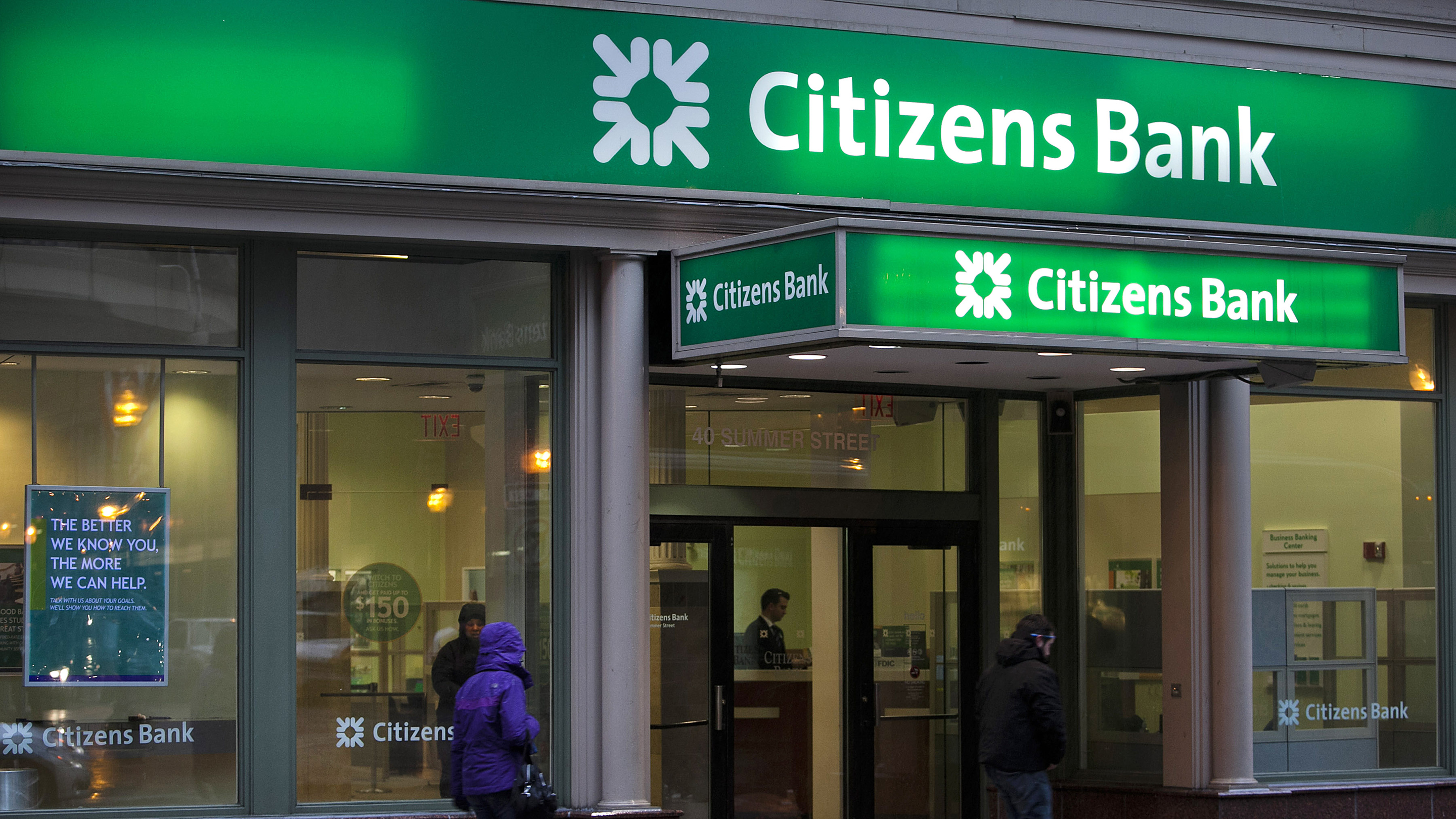 Citizens Financial Group Inc. Branches As RBS Plans To Sell Its Stake In The Bank