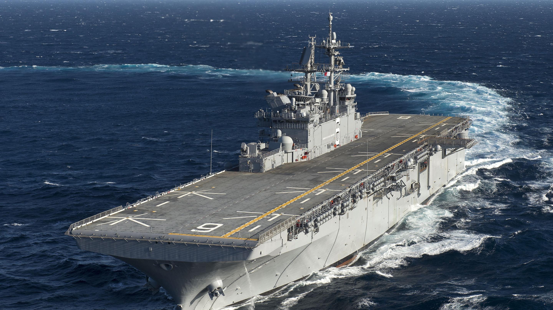 Amphibious assault ship America (LHA 6).