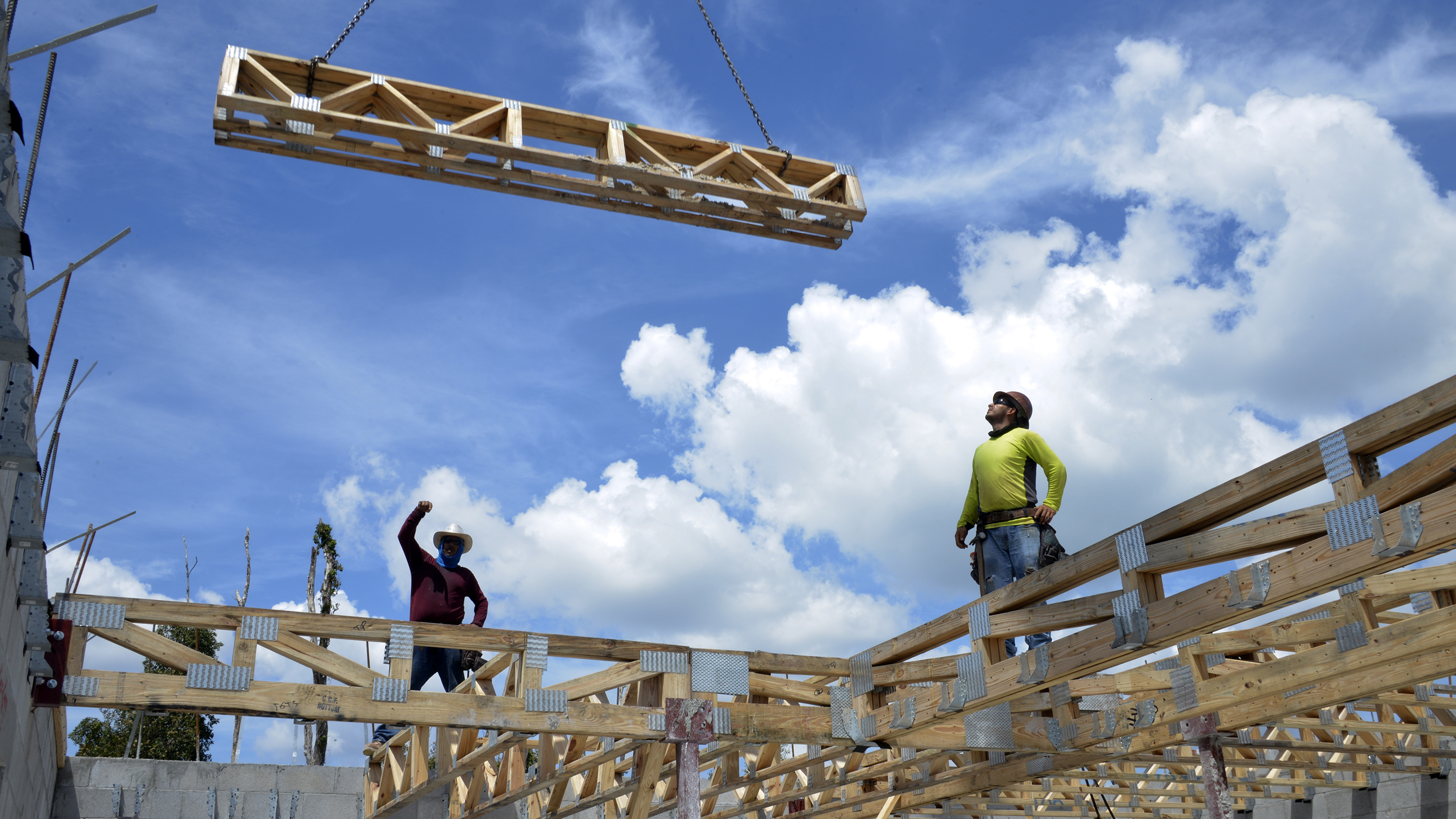 Construction At A Lennar Homes Development Ahead Of New Home Sales Data
