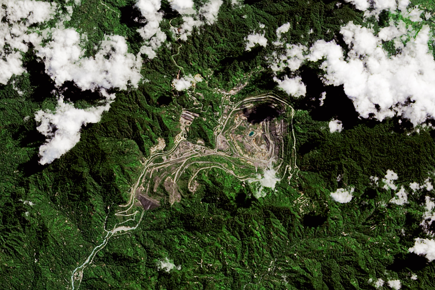 Satellite Views of the Panguna Mine