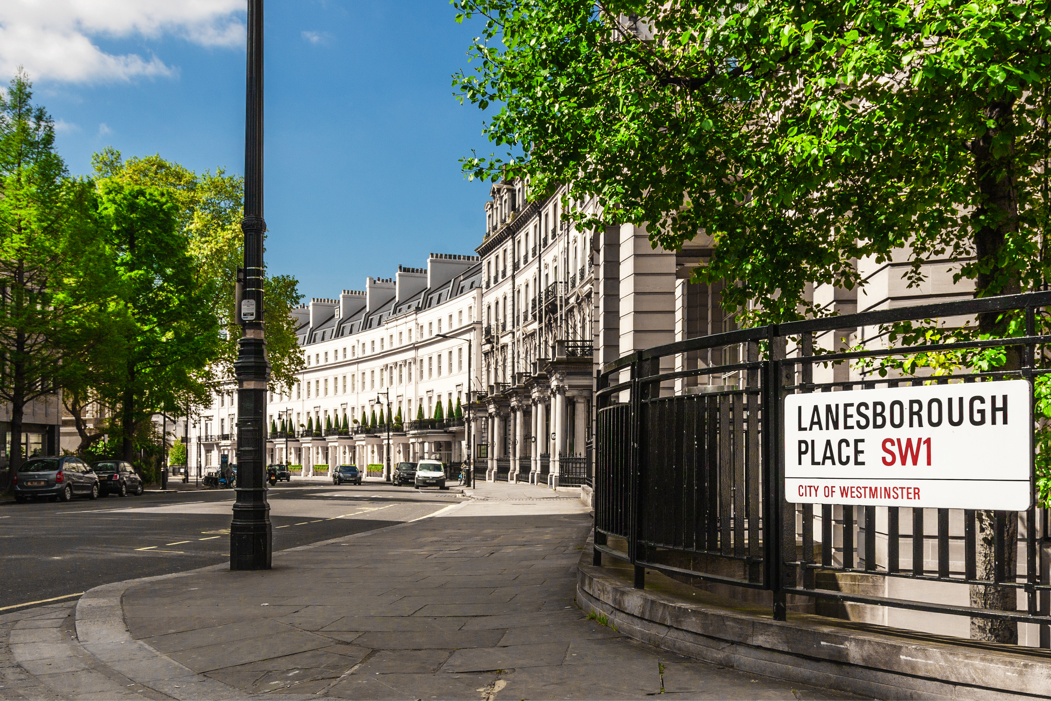Traditional town houses at Belgravia district in London