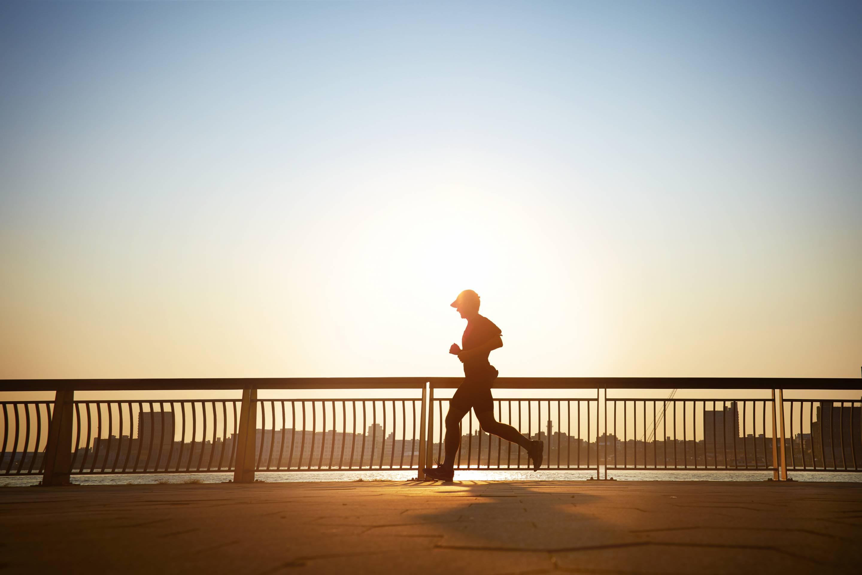 Man on an early morning run
