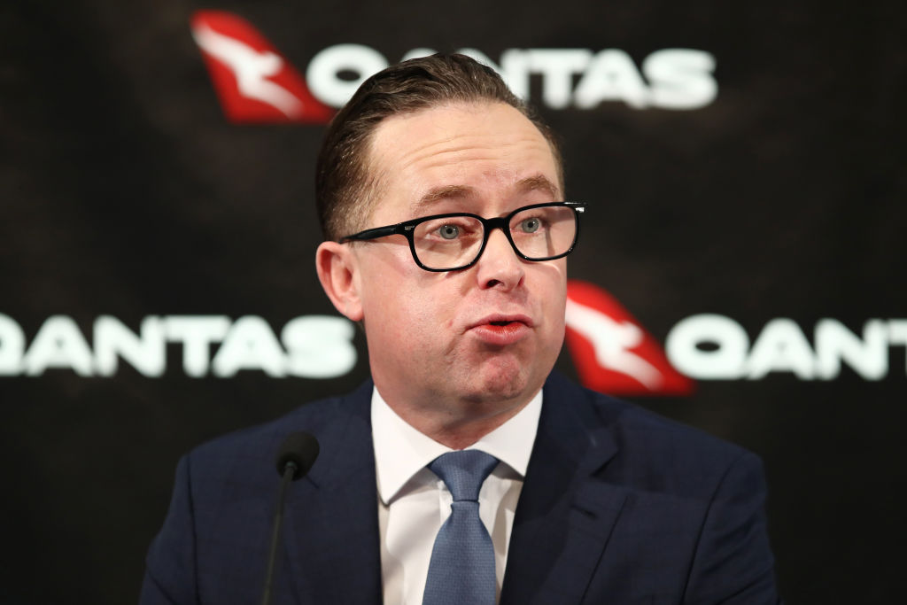 Qantas Group Chief Executive Officer Alan Joyce Announces Half Year Results