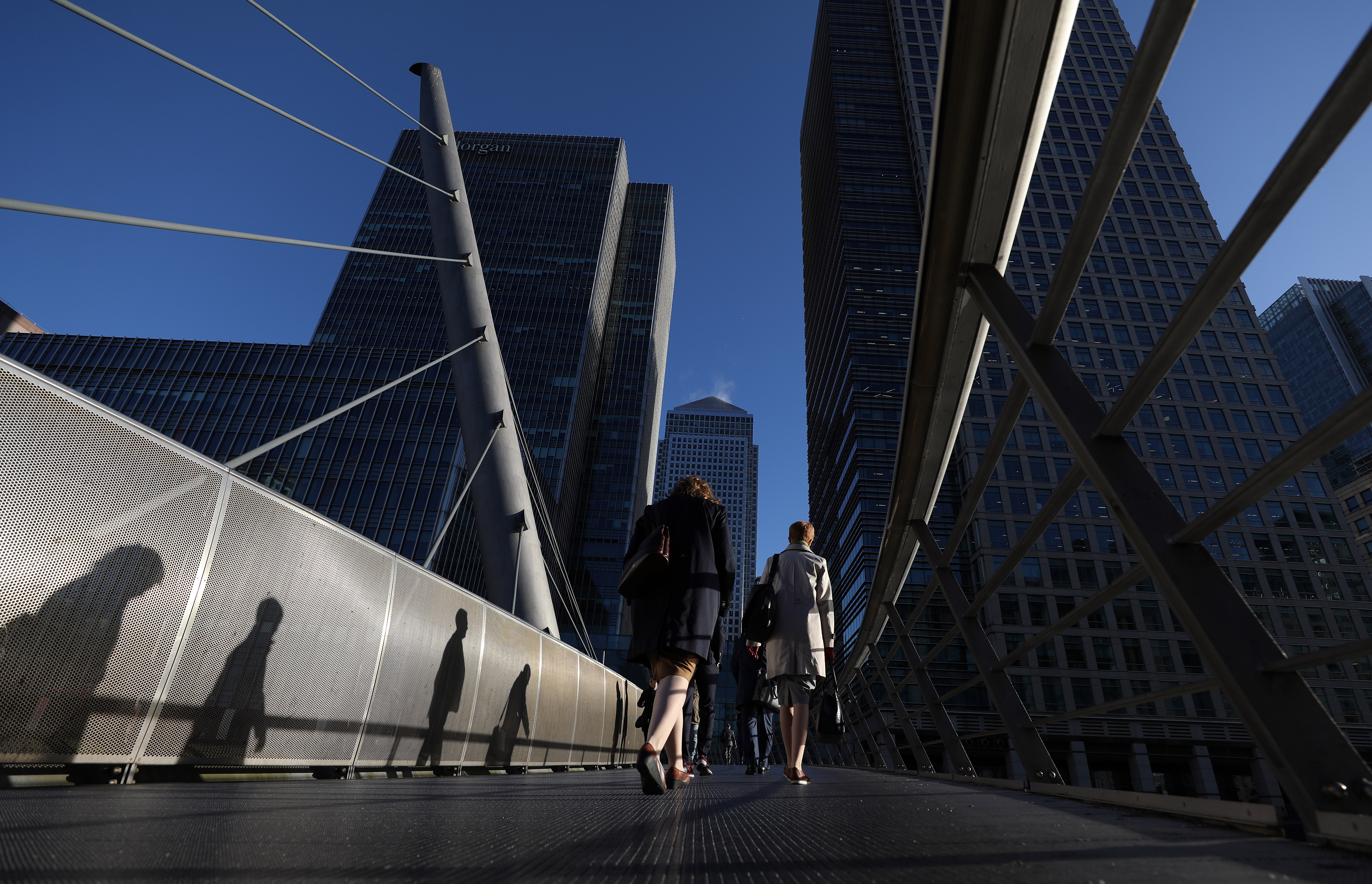 Views Of Financial District As HSBC Says Companies Already Re-Routing Business Due To Brexit