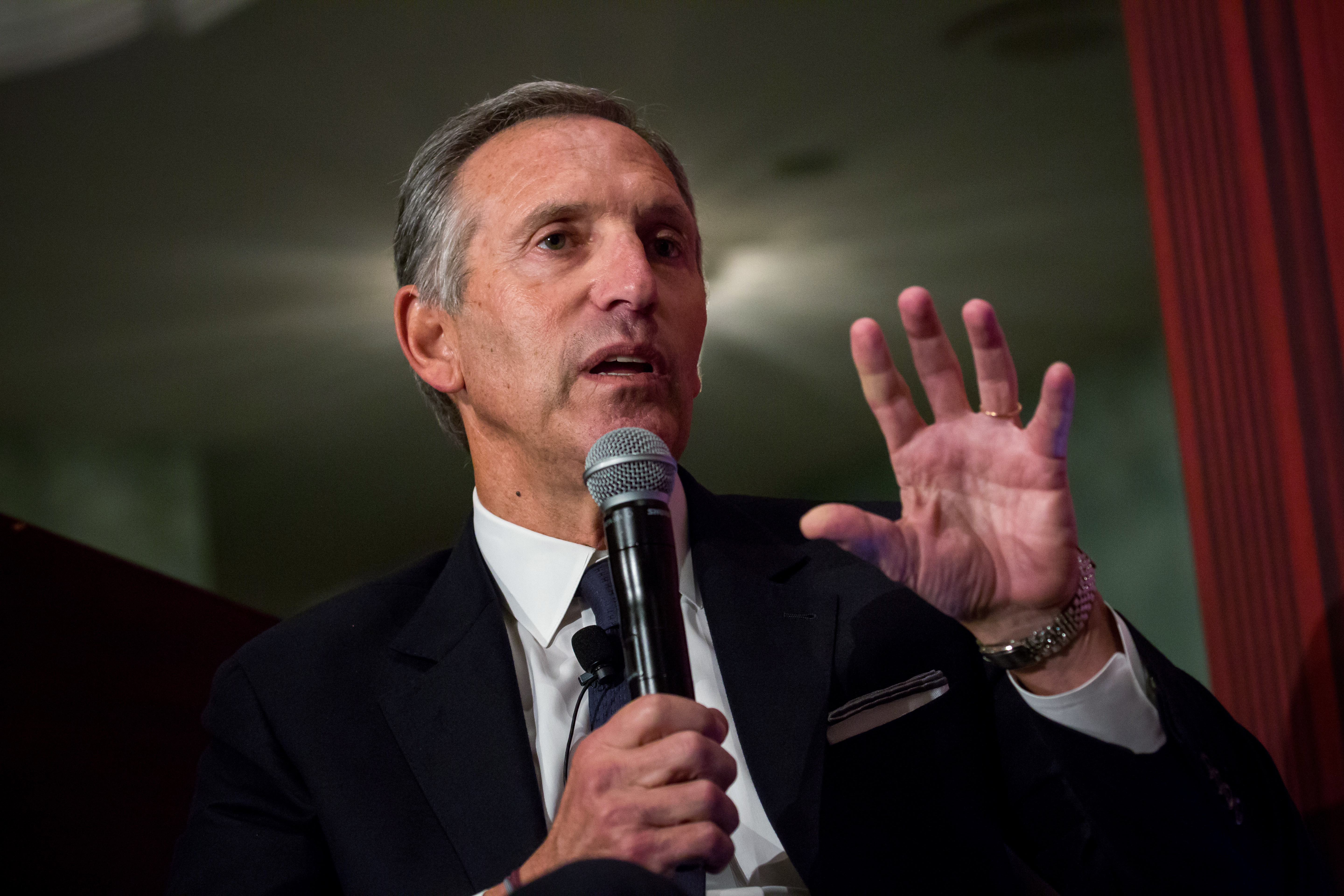 Starbucks Corp. Chairman Howard Schultz Speaks At The Economic Club Of New York