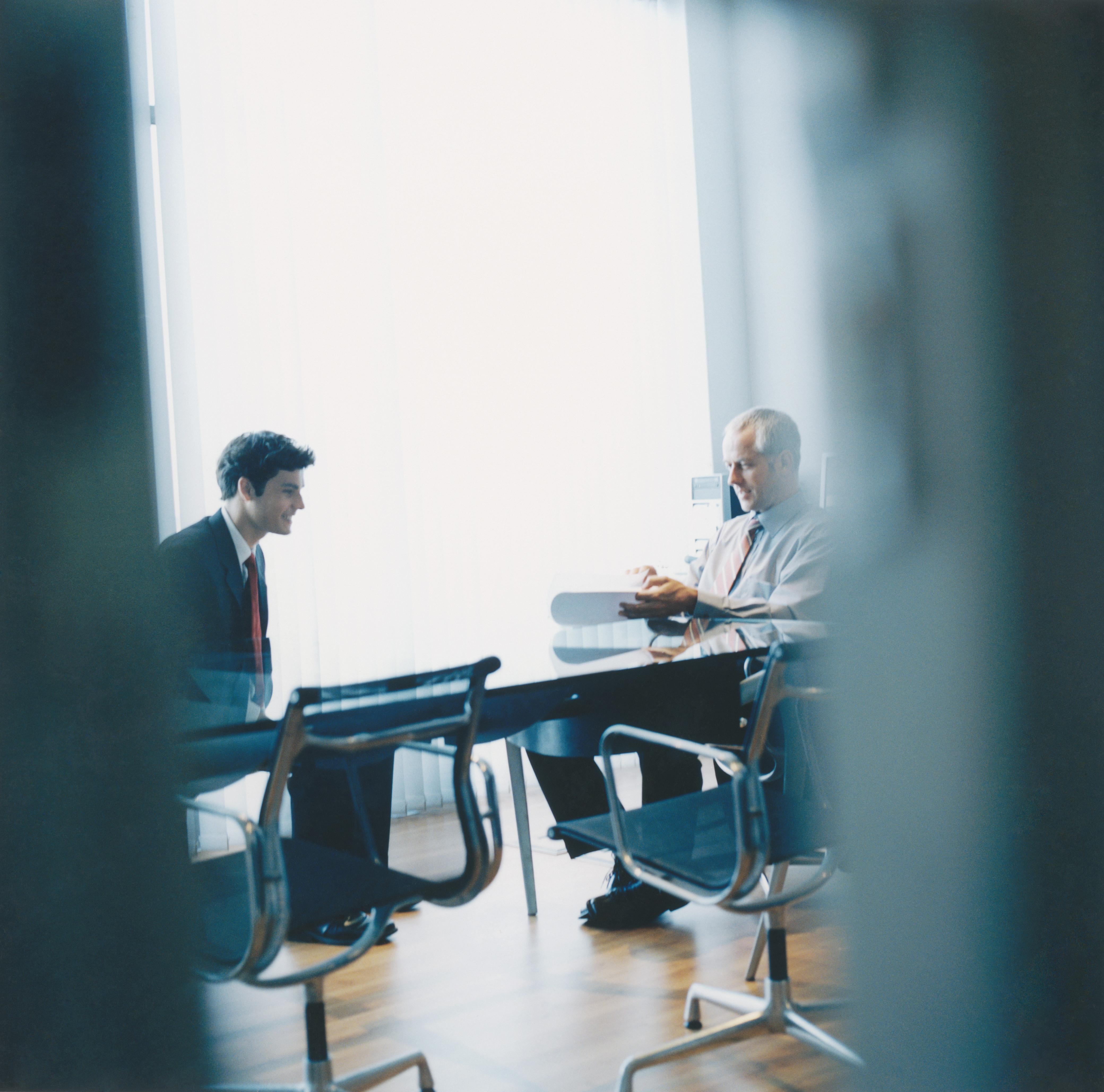 Men at Interview