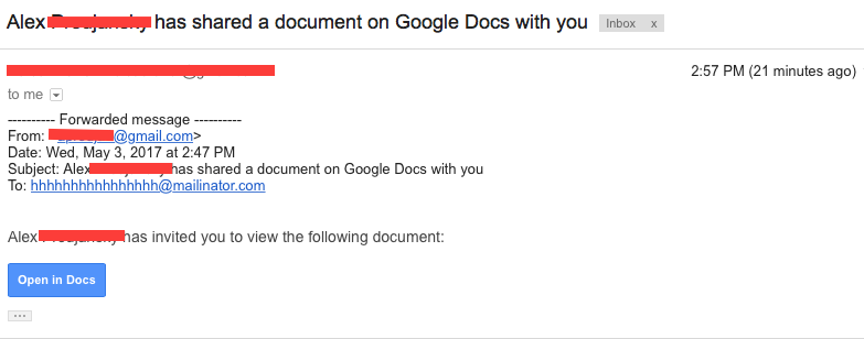 Google Docs Virus: Email Tries to Scam Users | Fortune