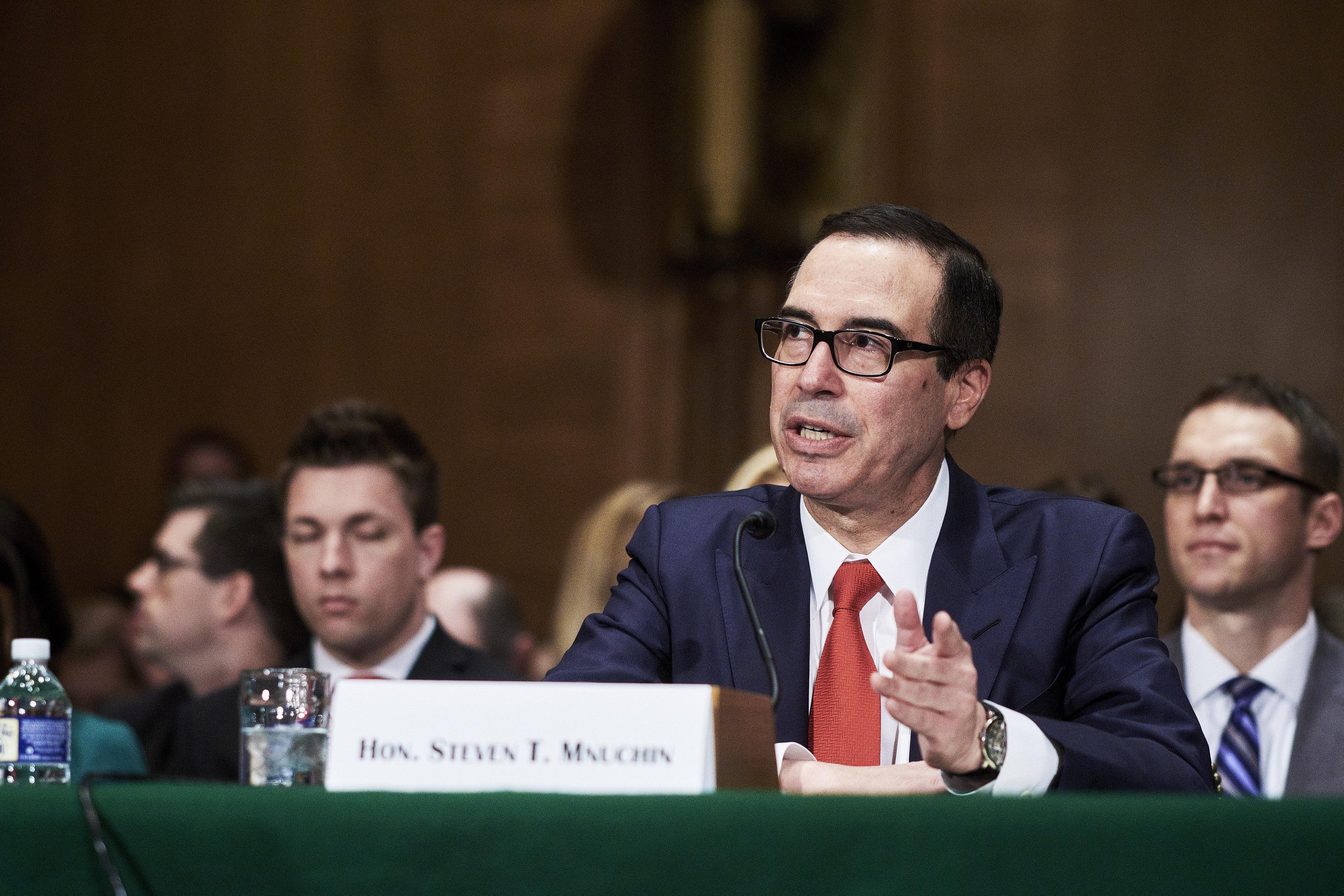 Treasury Secretary Steven Mnuchin Testifies Before Senate Banking Committee
