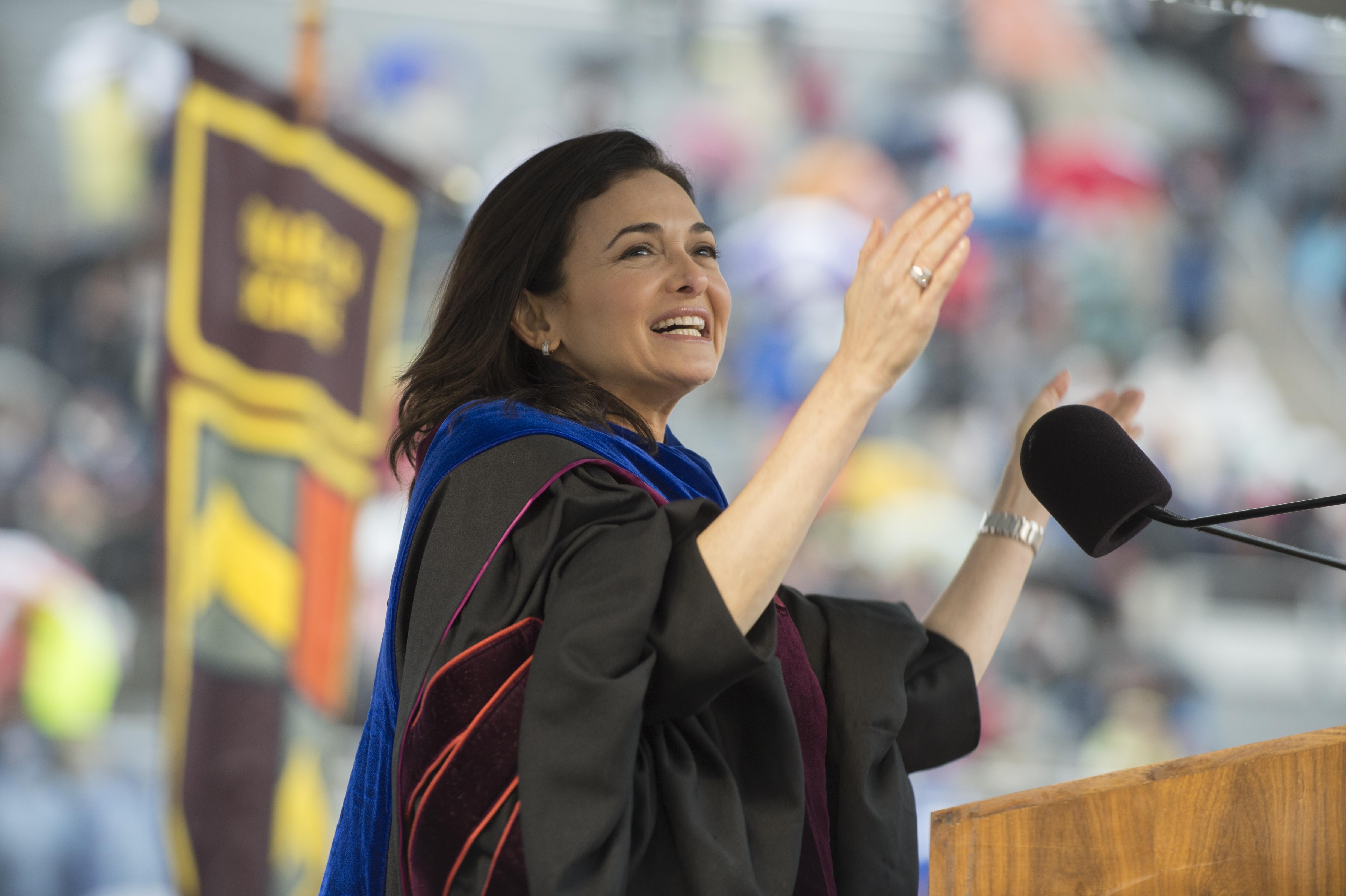 University Commencement Ceremony, Lane Stadium, Sheryl Sandberg