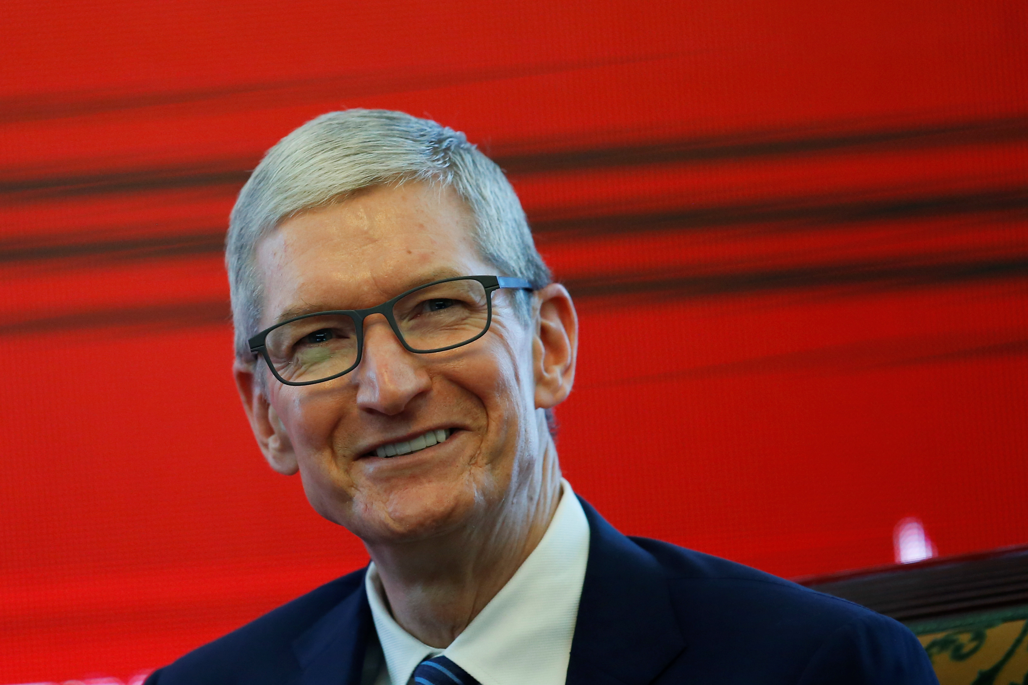 Apple CEO Tim Cook attends the China Development Forum in Beijing