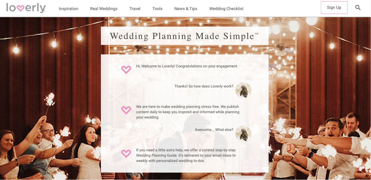 Loverly's website.