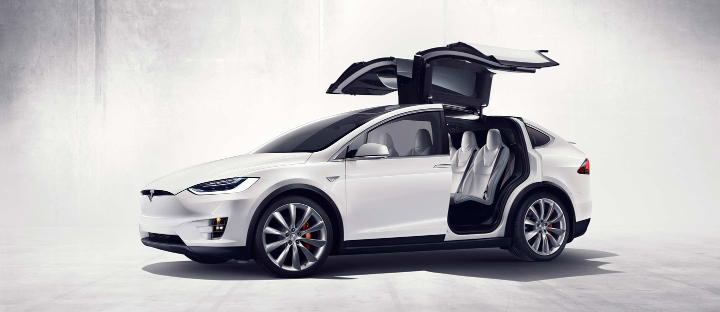 Tesla's Model Y is slated to be a crossover SUV, probably without some of the unconventional features - including gull-wing doors - of the Model X shown here.