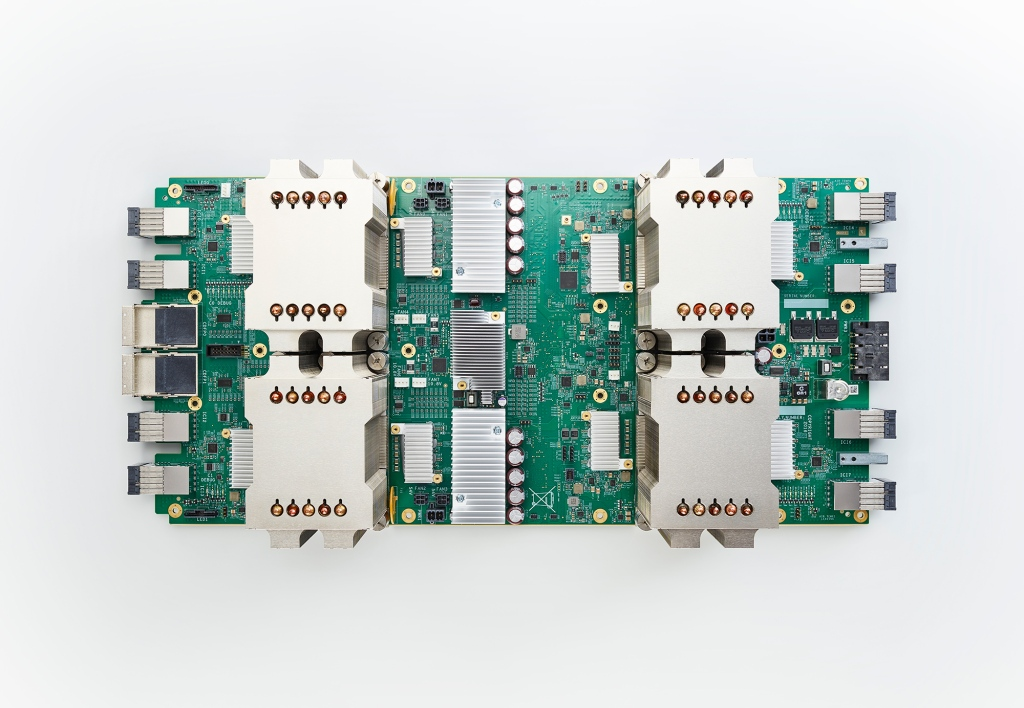 Version two of Google's custom computer chip, the TPU.