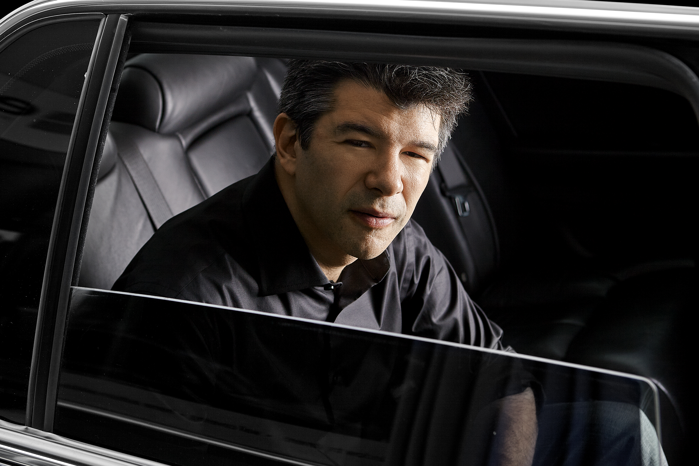 Portrait of Uber CEO Travis Kalanick on March 18, 2013.