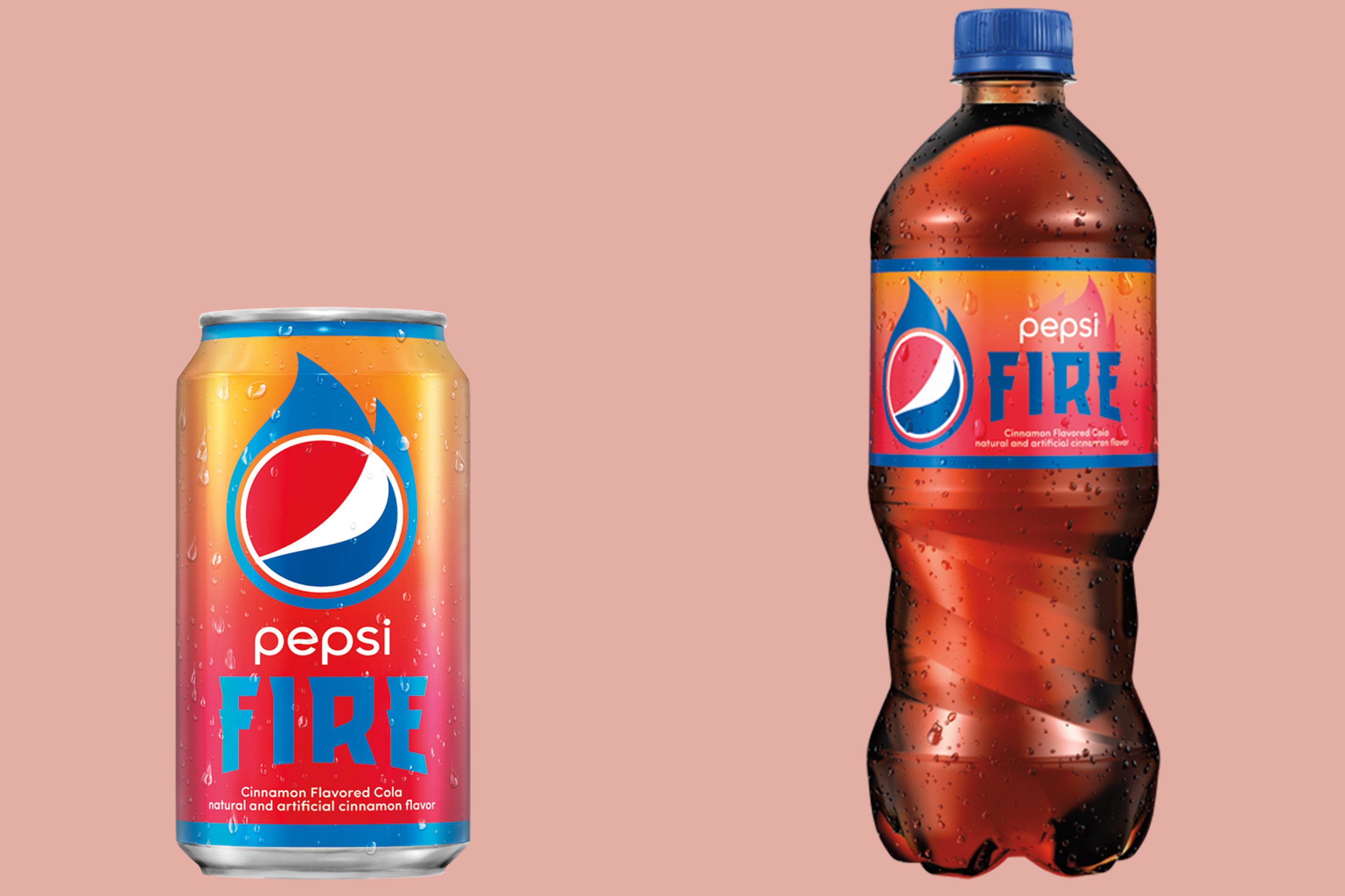 PepsiCo has launched a new limited-edition soda, a cinnamon-flavored beverage called Pepsi Fire.