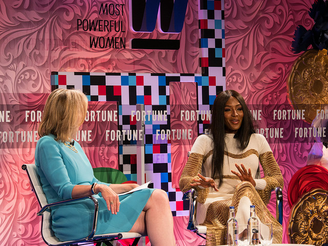 Naomi Campbell at Fortune magazine's Most Powerful Women Summit at the Dorchester Hotel, London. June 12 2017. Pictures by Peter Dench for Fortune Magazine.