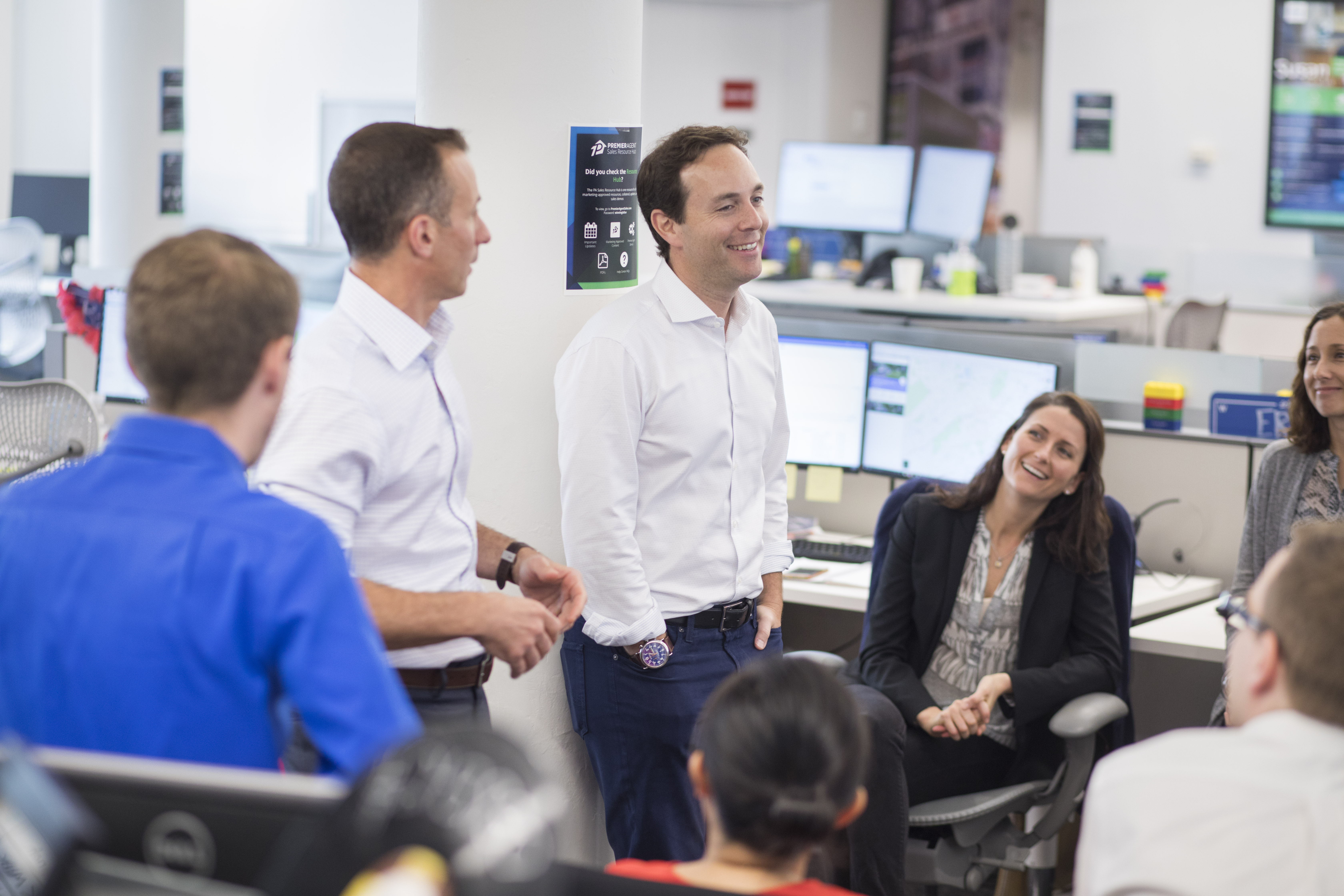 Zillow CEO Spencer Rascoff visits company office in New York City.