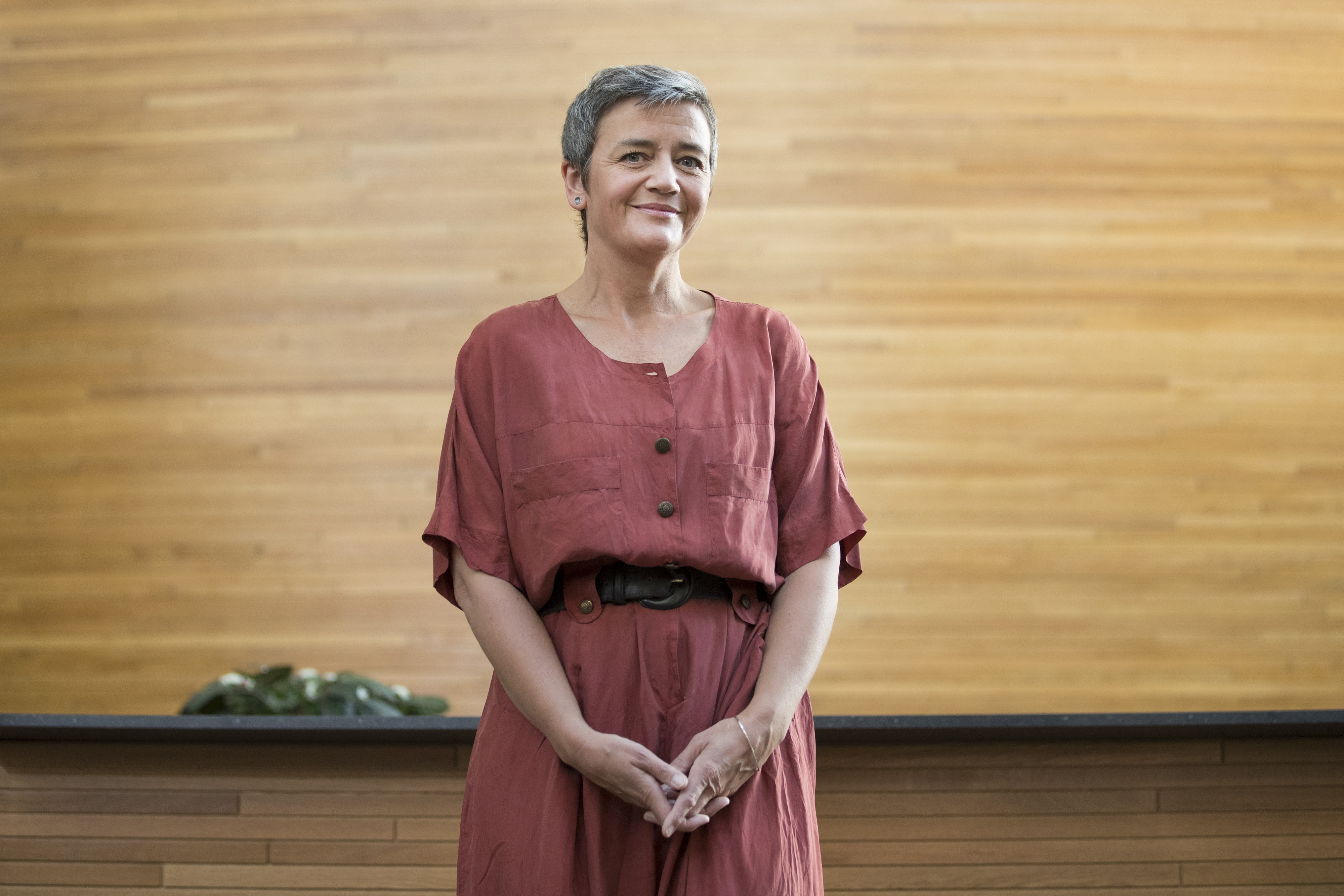 European Commission Competition Commissioner Margrethe Vestager Interview At European Parliament