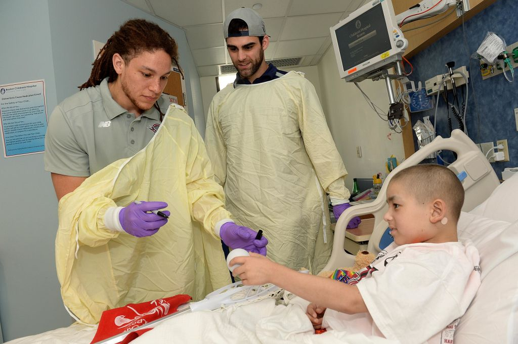 Boston Cannons Visit Patients at Boston Children's Hospital