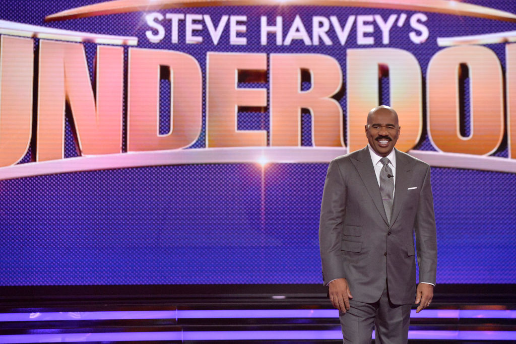 "Steve Harvey hosts ABC's ""Funderdome"" reality show."