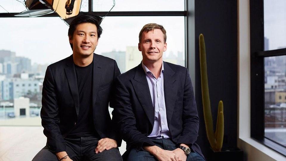 Binary Capital's Jonathan Teo (left) and Justin Caldbeck.