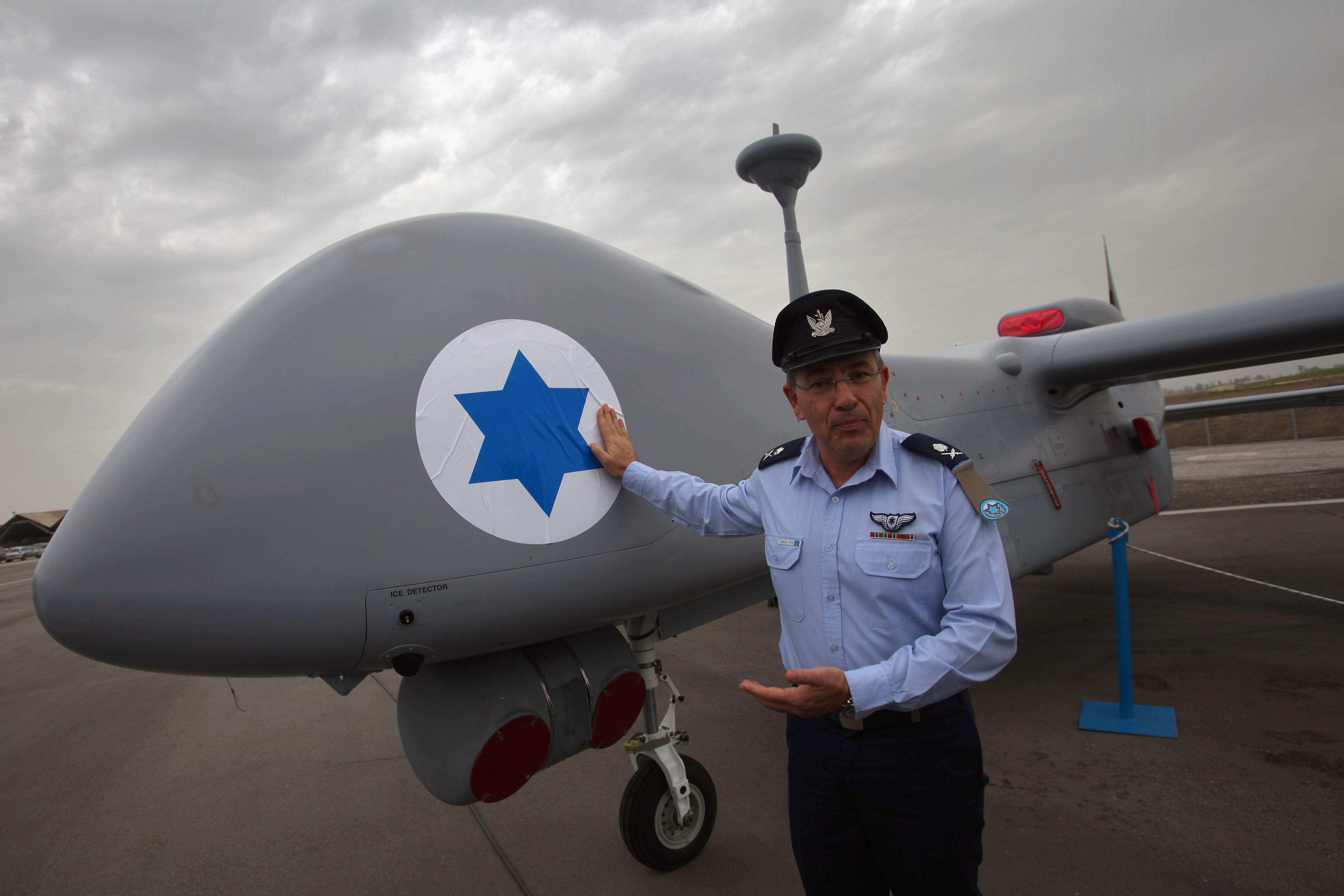 Israeli Airforce unmanned aerial vehicle Heron TP.
