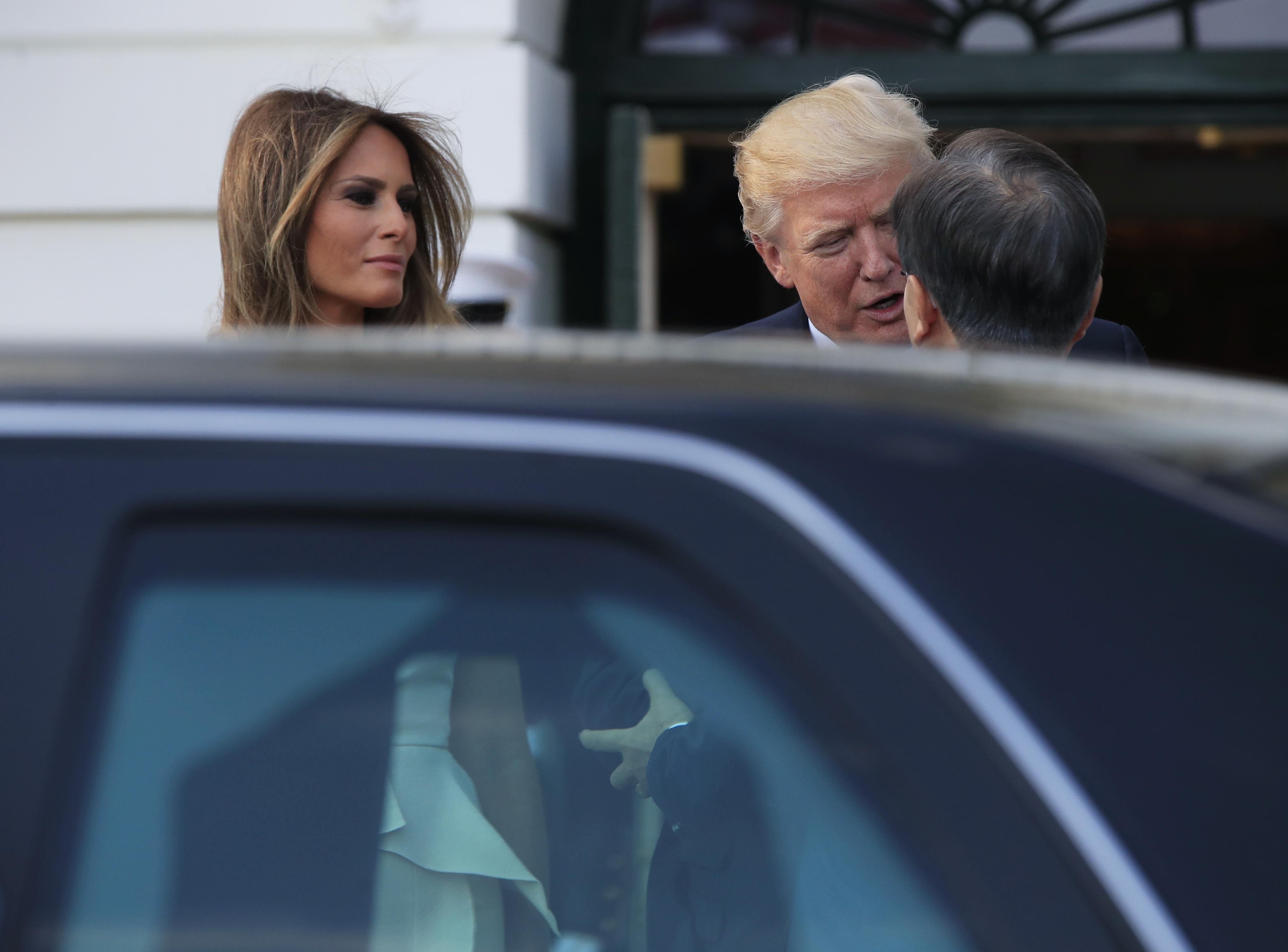 Donald Trump, Melania Trump, Moon Jae-in