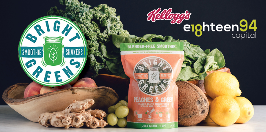 Plant-based smoothies maker Bright Greens raised $2 million in seed funding led by Kellogg's venture capital fund.