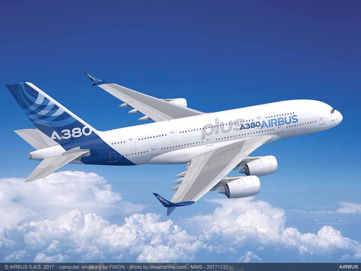 Airbus A380plus rendering, Paris Airshow