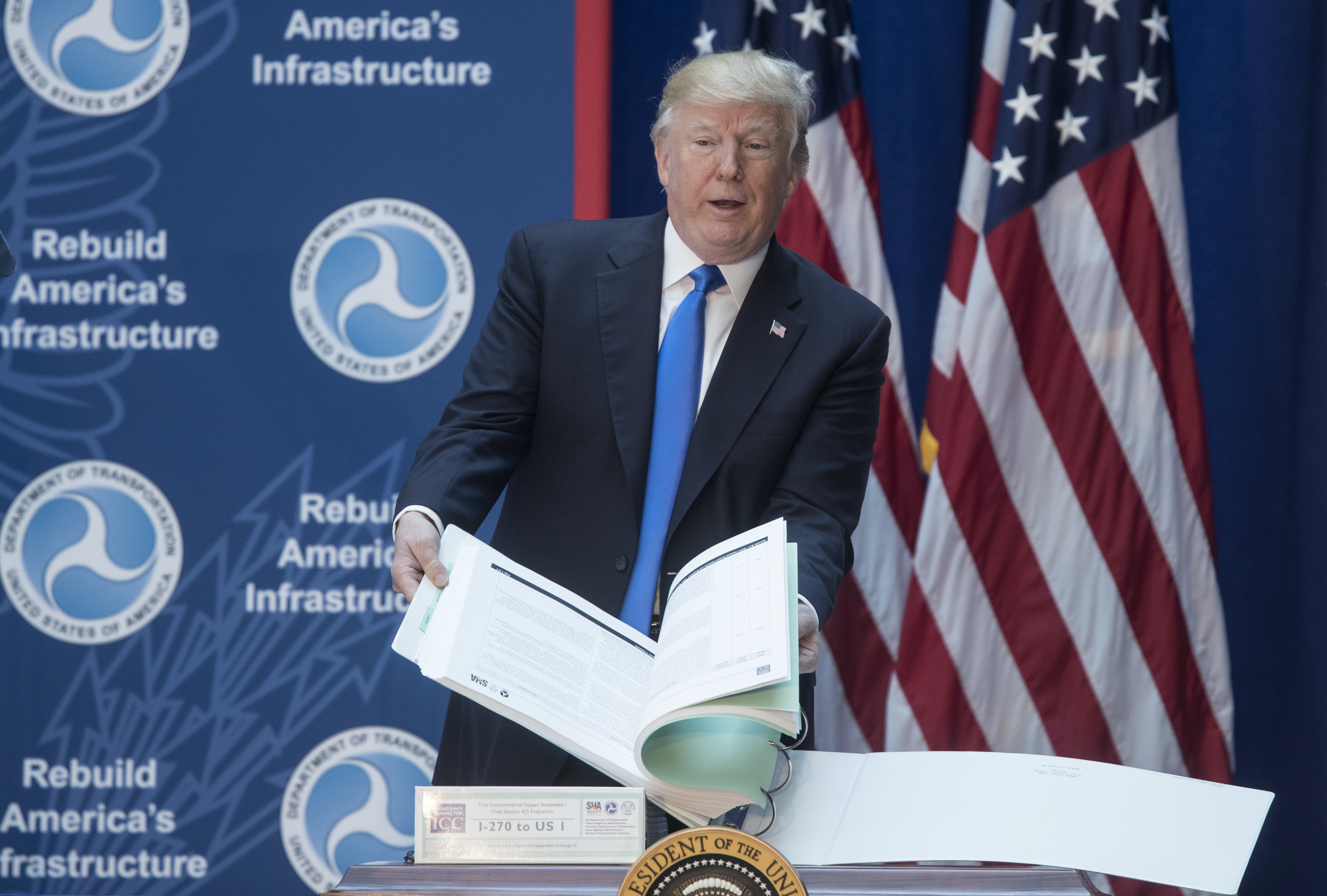 President Trump Speaks At The Department Of Transportation