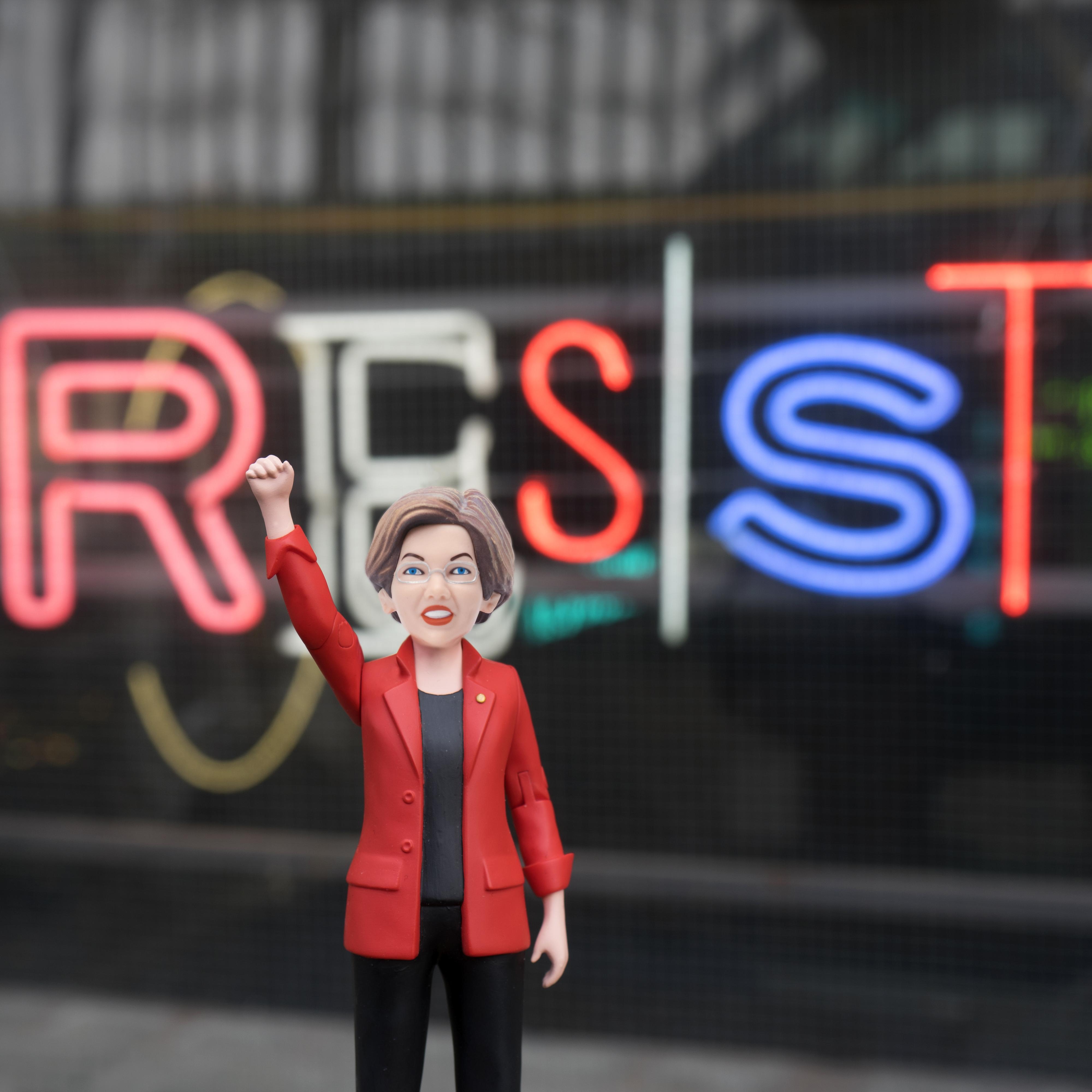 The Sen. Elizabeth Warren action figure.
