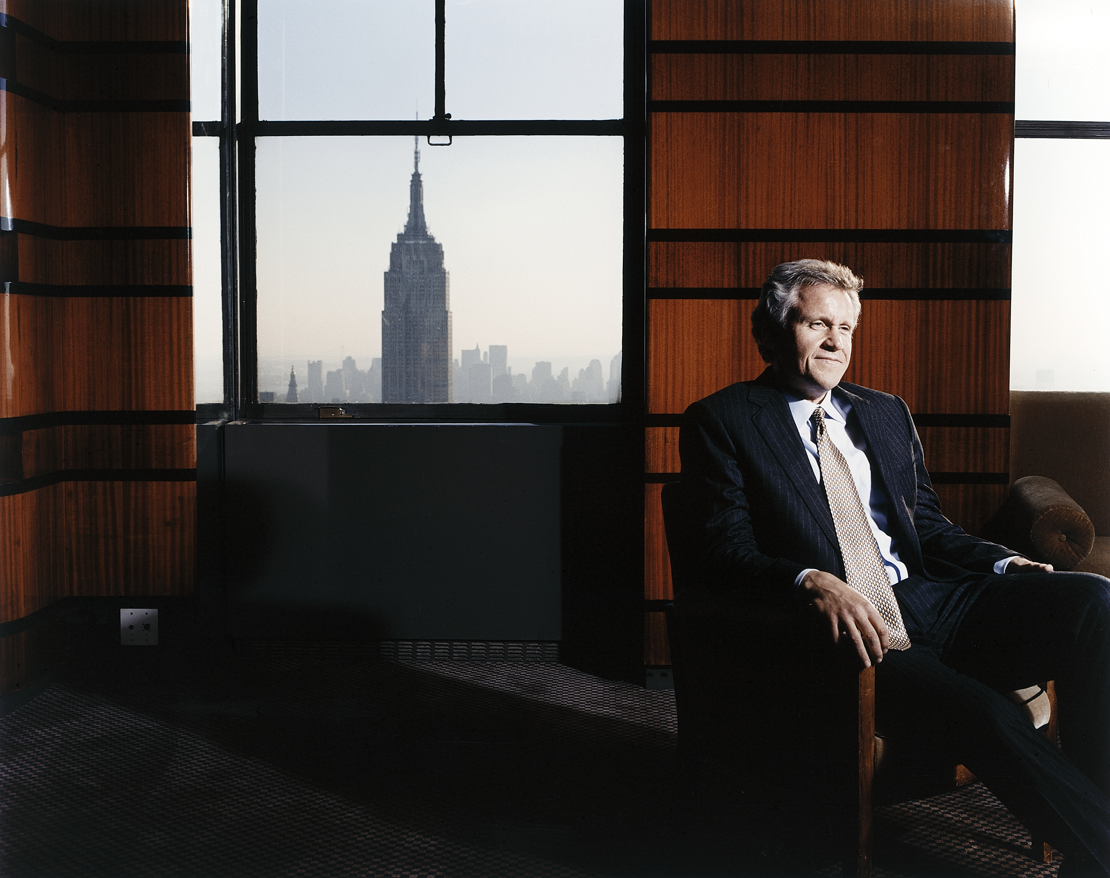 General Electric CEO Jeff Immelt in his office at the GE Building.