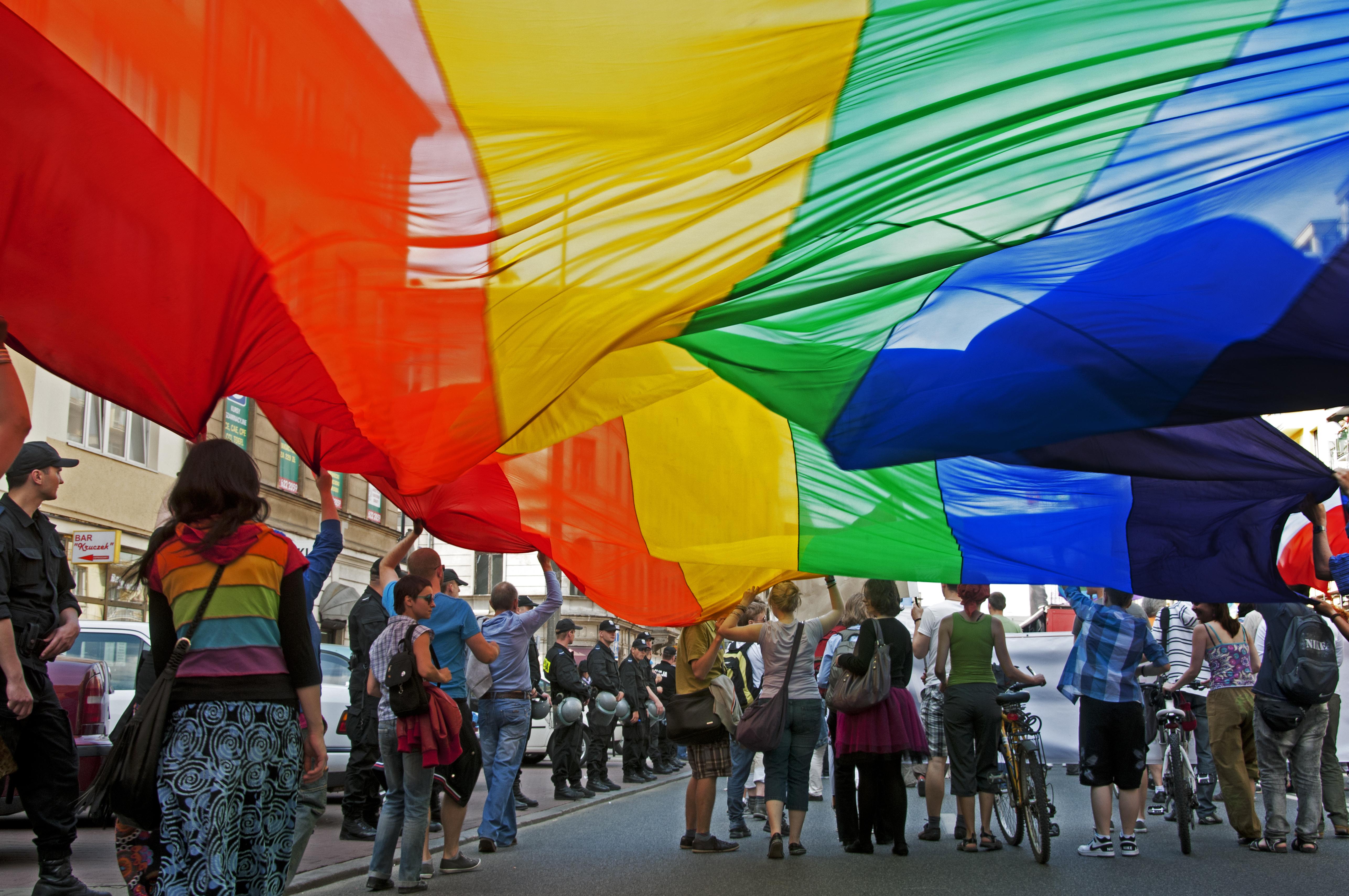 Gay Pride Parade, Warsaw.