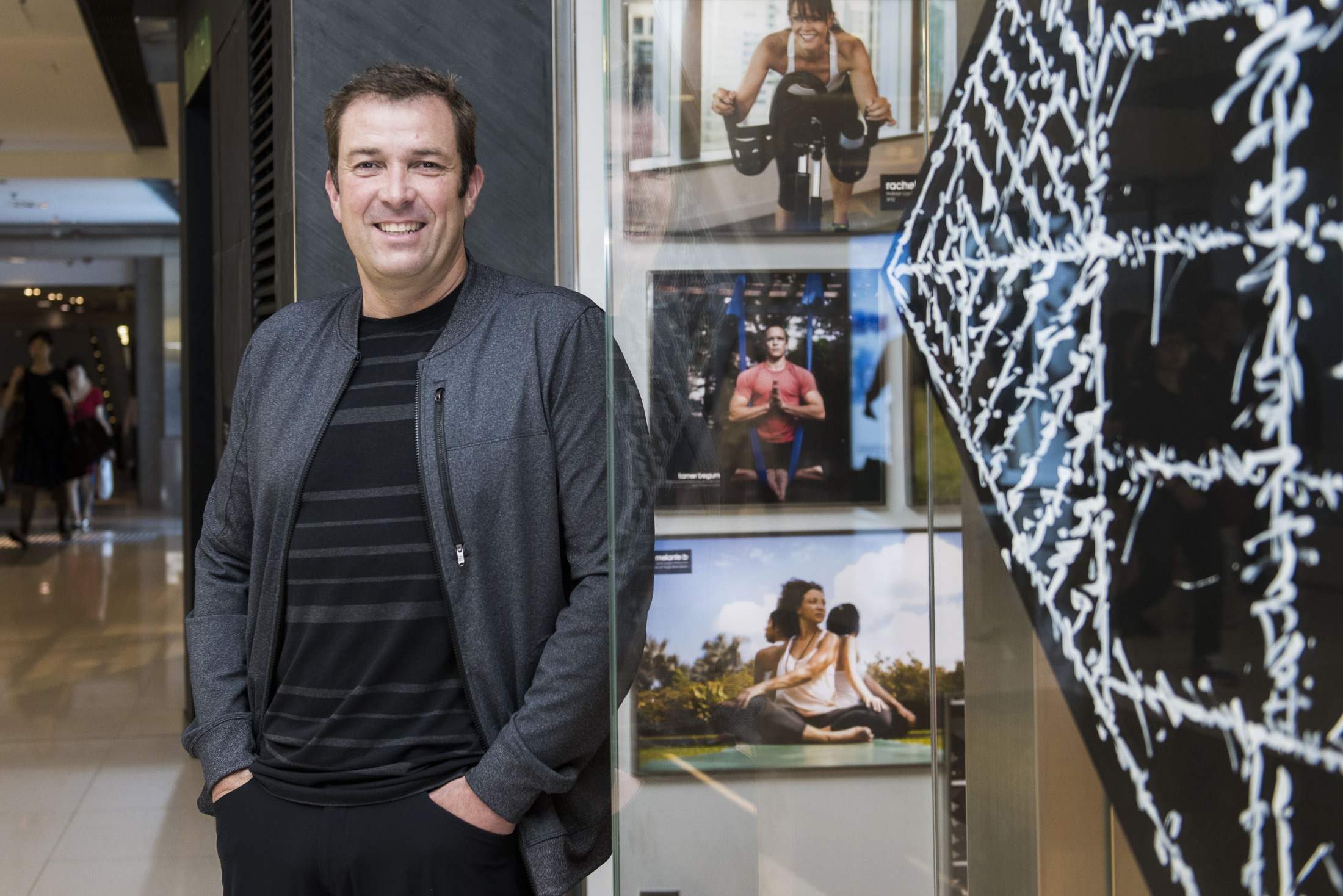 Lululemon Athletica Inc. Chief Executive Officer Laurent Potdevin At New Hong Kong Store