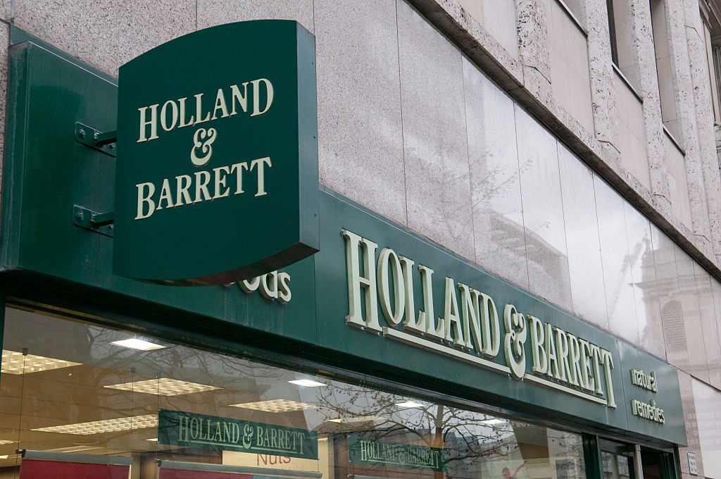 A general view of Health food shop Holland and Barrett