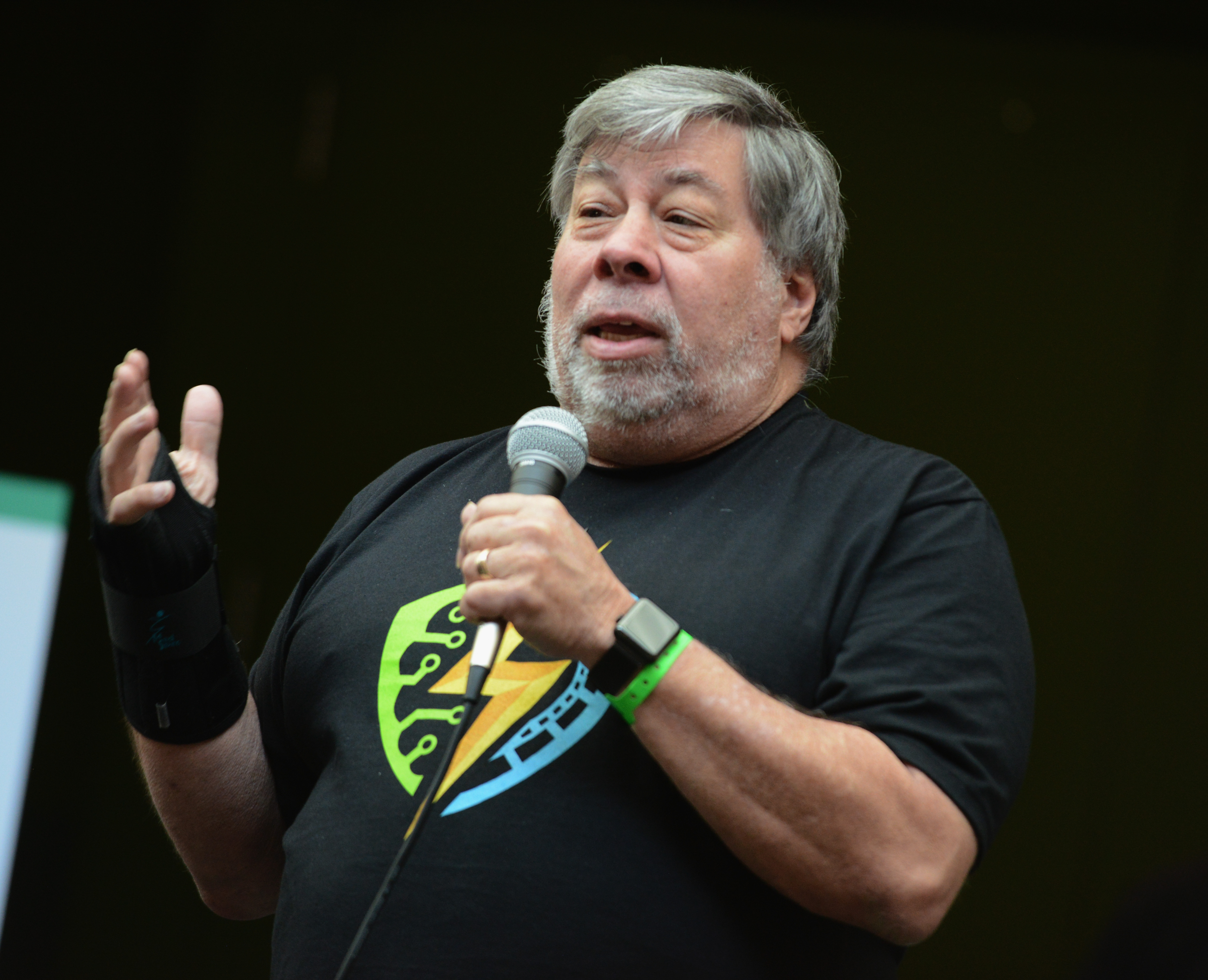 Steve Wozniak opens the Silicon Valley Comic Con 2017 held at San Jose Convention Center on April 22, 2017 in San Jose, California.