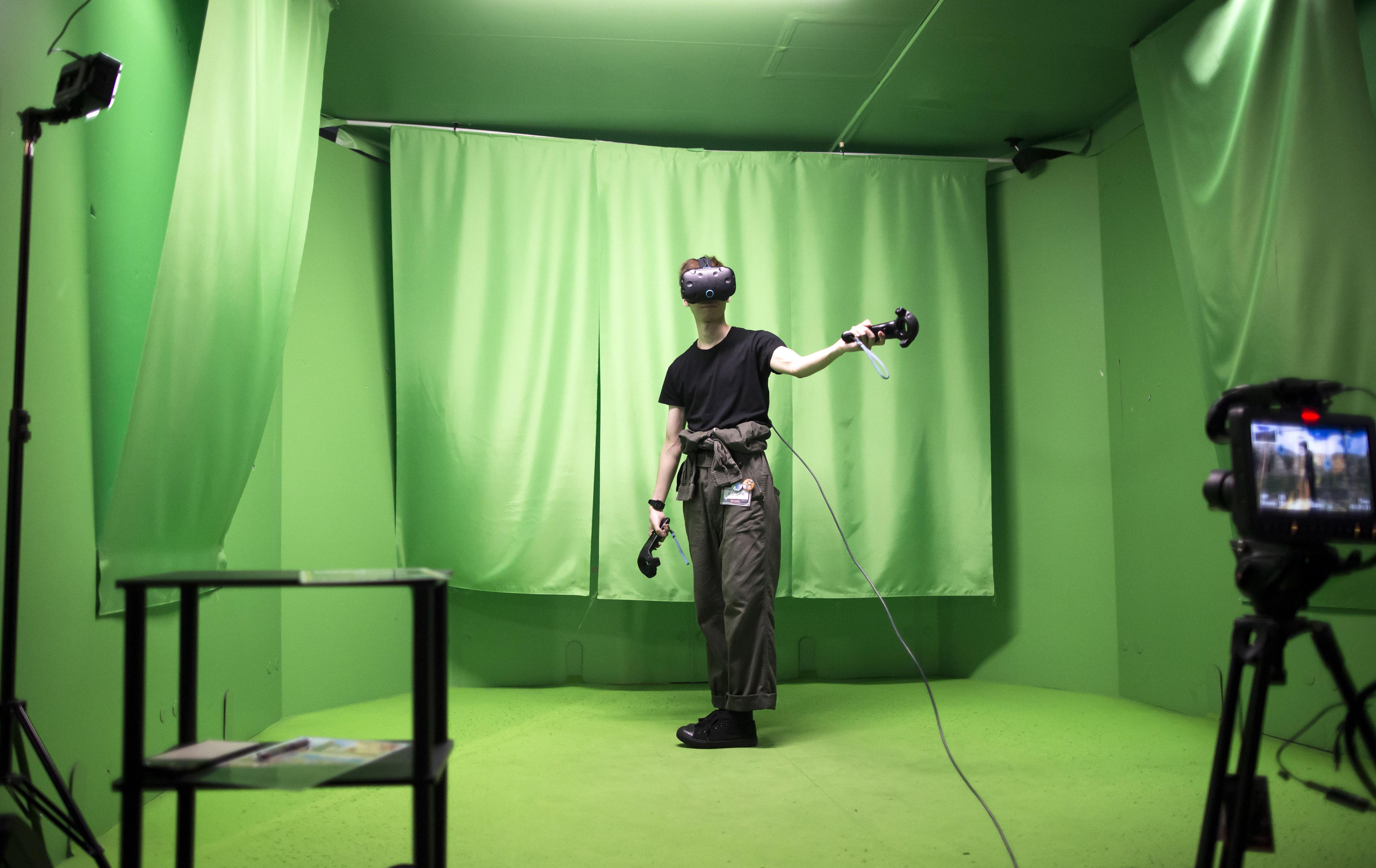 Inside VR Park Tokyo