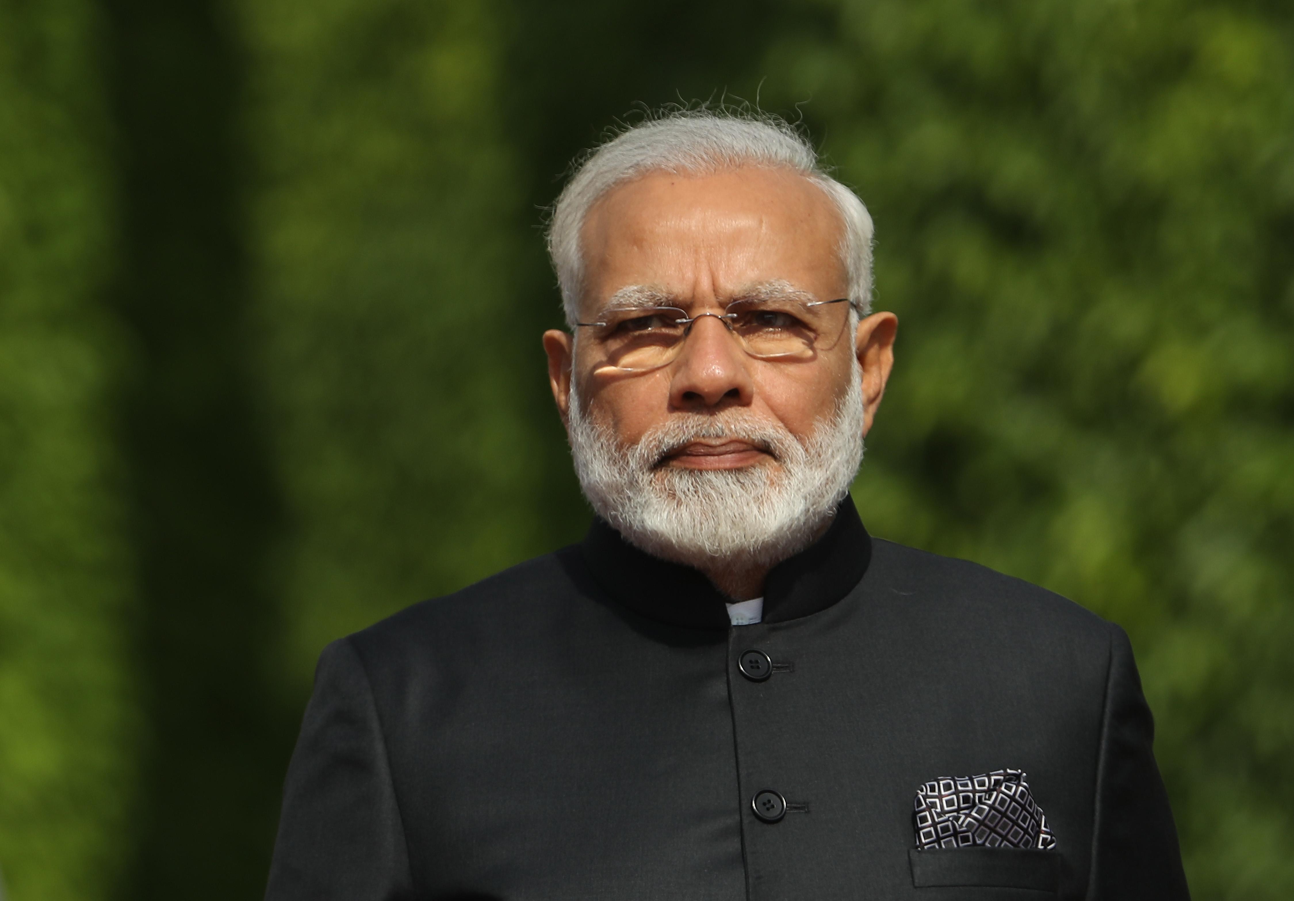 Indian Prime Minister Narendra Modi on May 30, 2017 in Berlin.