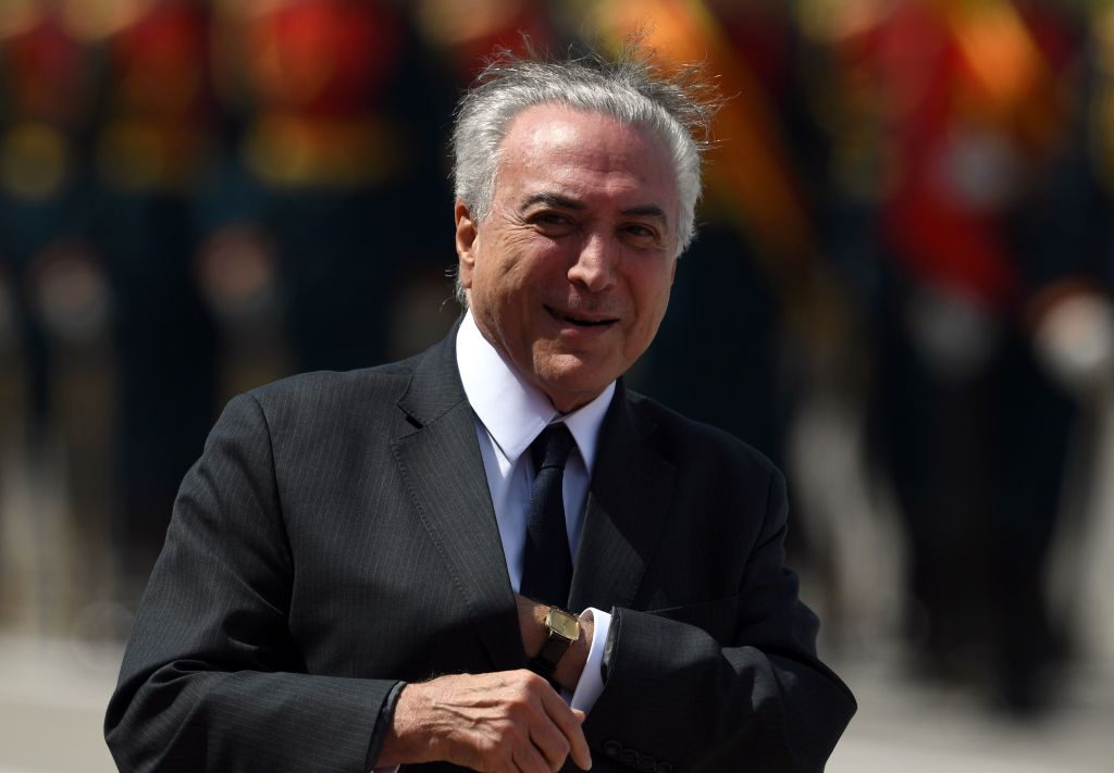 RUSSIA-BRAZIL-DIPLOMACY-TEMER-ARRIVAL