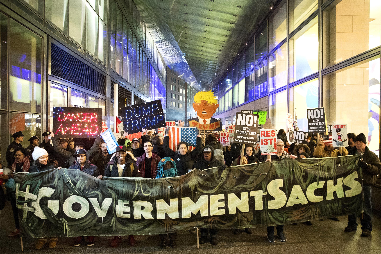 Fortune 500: Goldman Sachs, protests, Dodd-Frank