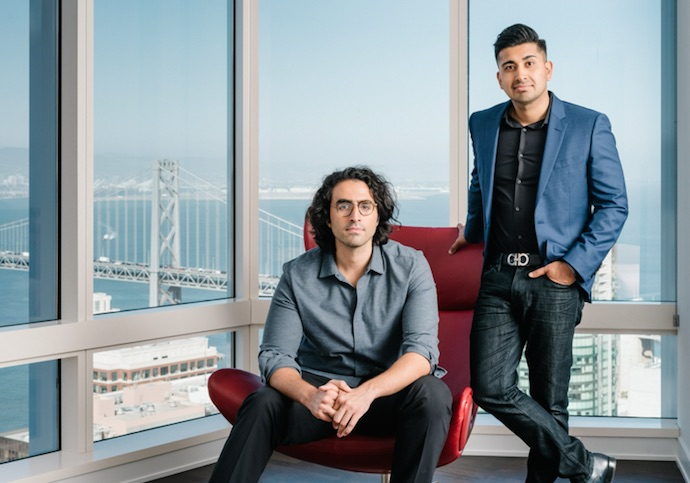 Kinetica co-founders: CTO Nima Neghaban and CEO Amit Vij (standing)