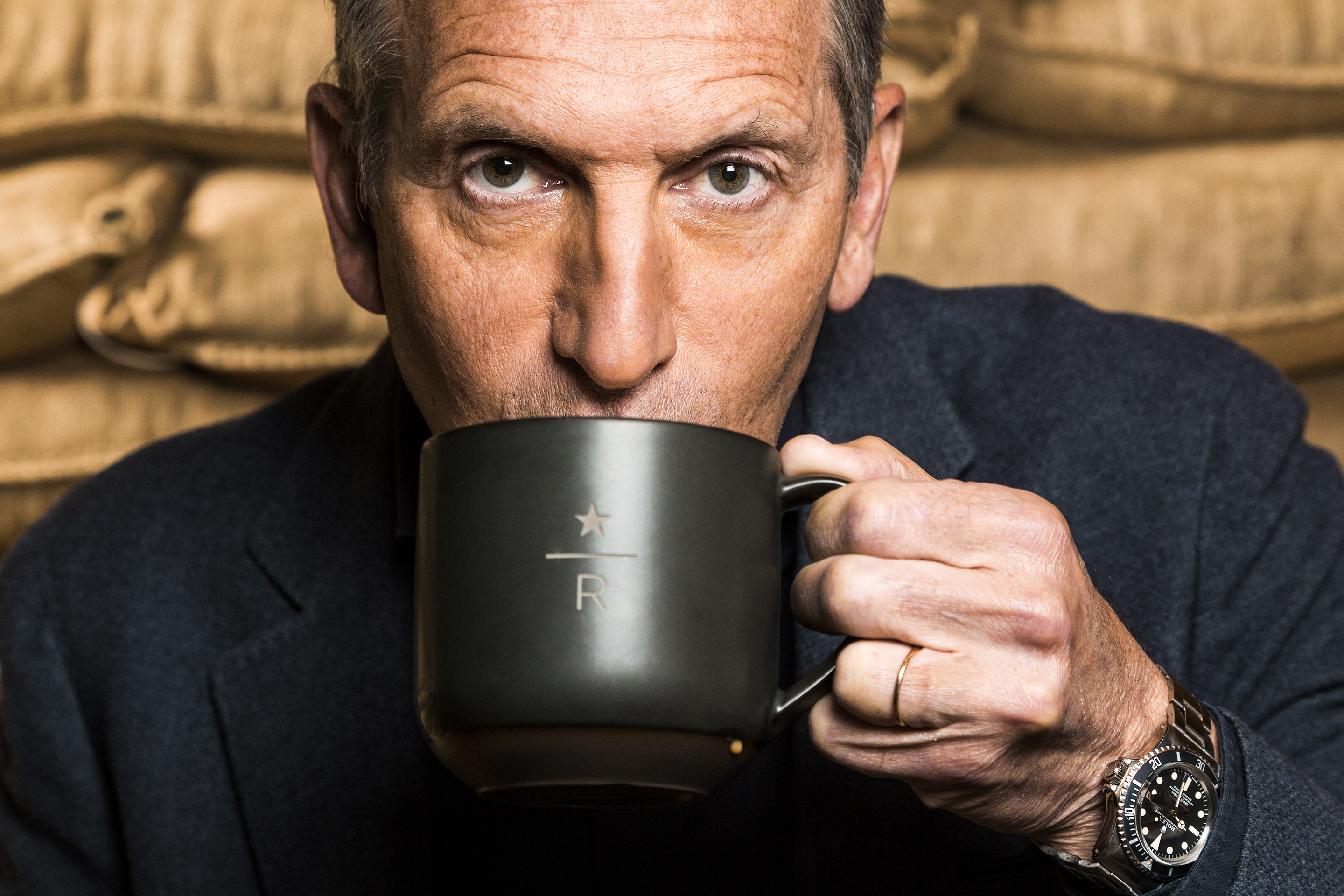 Howard Schultz former CEO Starbucks, photographed May 2017 in Seattle.