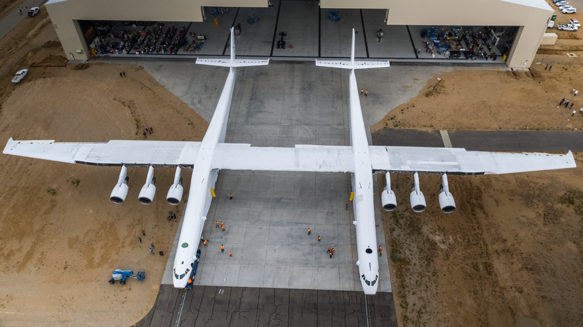 The Stratolaunch aircraft, brainchild of Microsoft co-founder and Seattle Seahawks owner Paul Allen