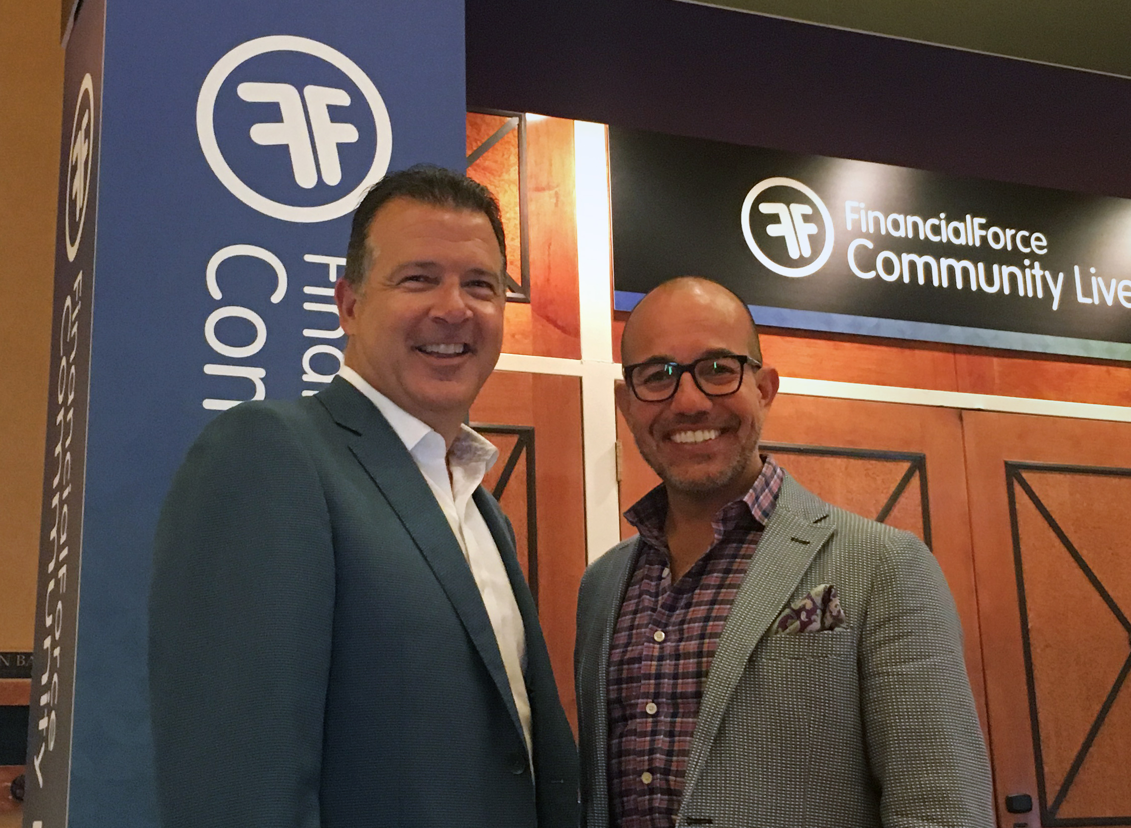 FinancialForce CEO Tod Nielsen (left) and CMO Fred Studer.