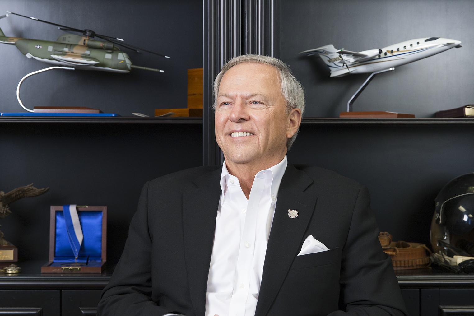 Max James in his office in Las Vegas.