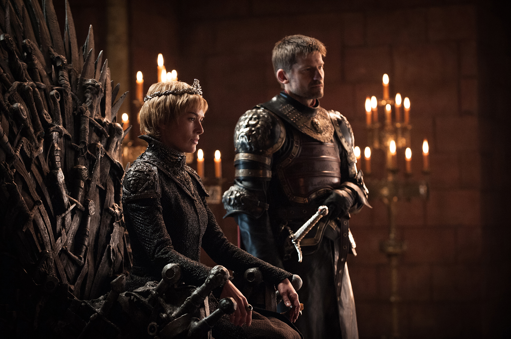 Lena Headey and Nikolaj Coster-Waldau in season 7 of Game of Thrones.