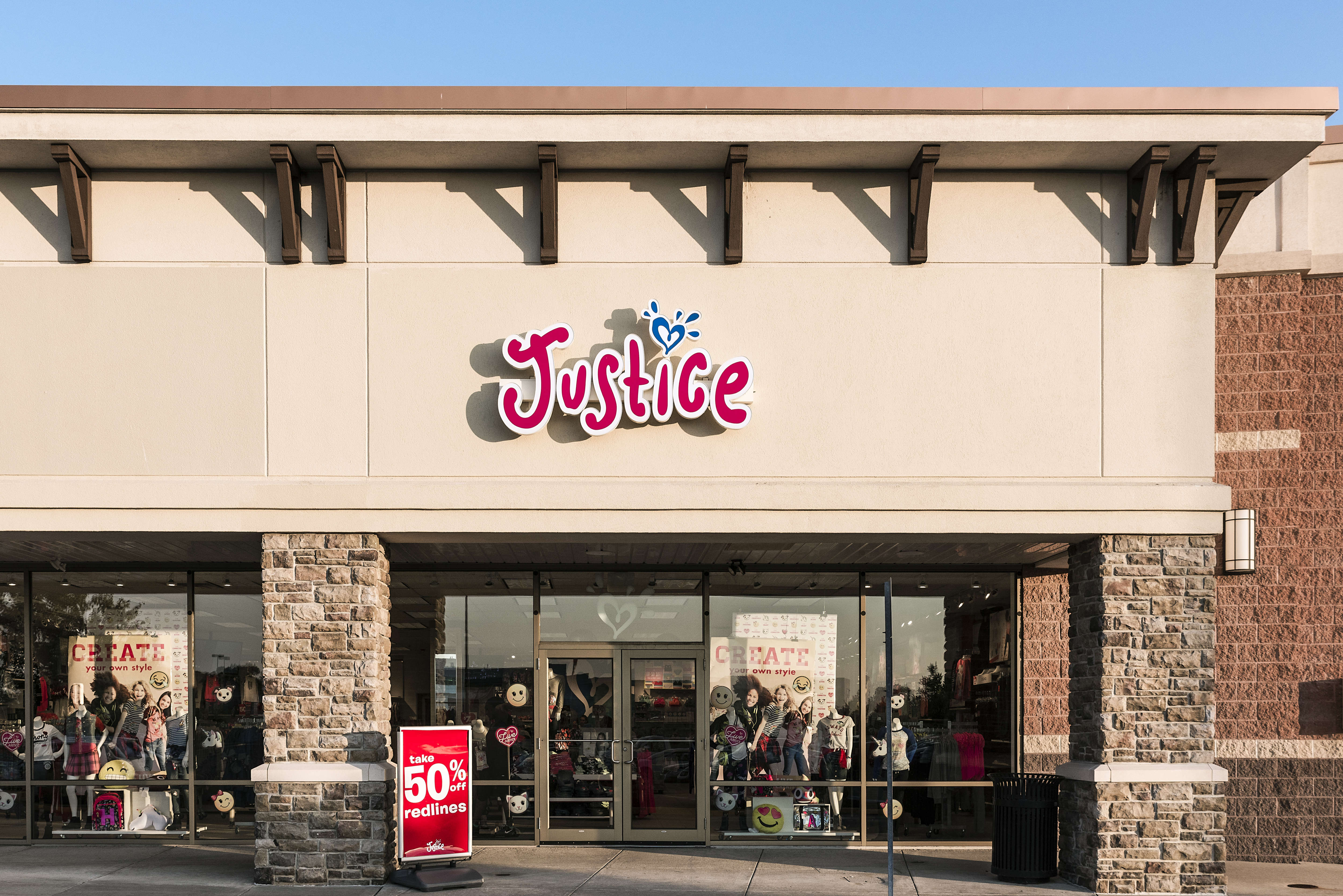 Justice for girls retail clothing store