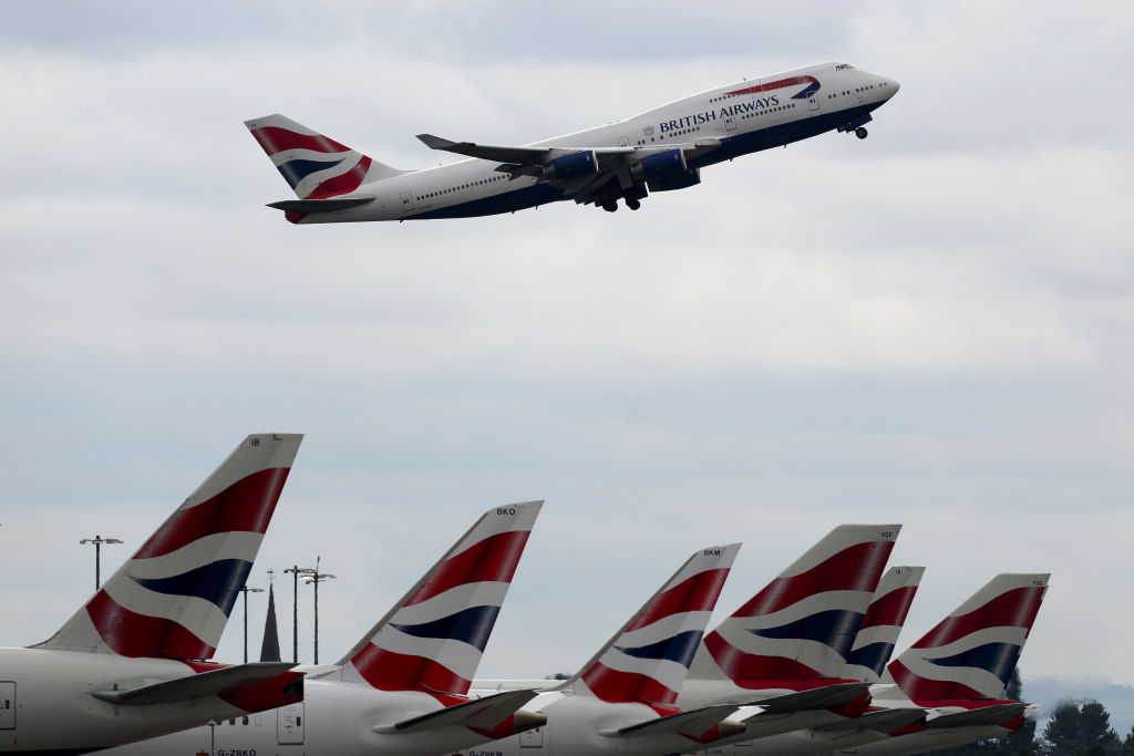 British Airways Planes As Meltdown Feeds Outrage At Airline Cost Cut
