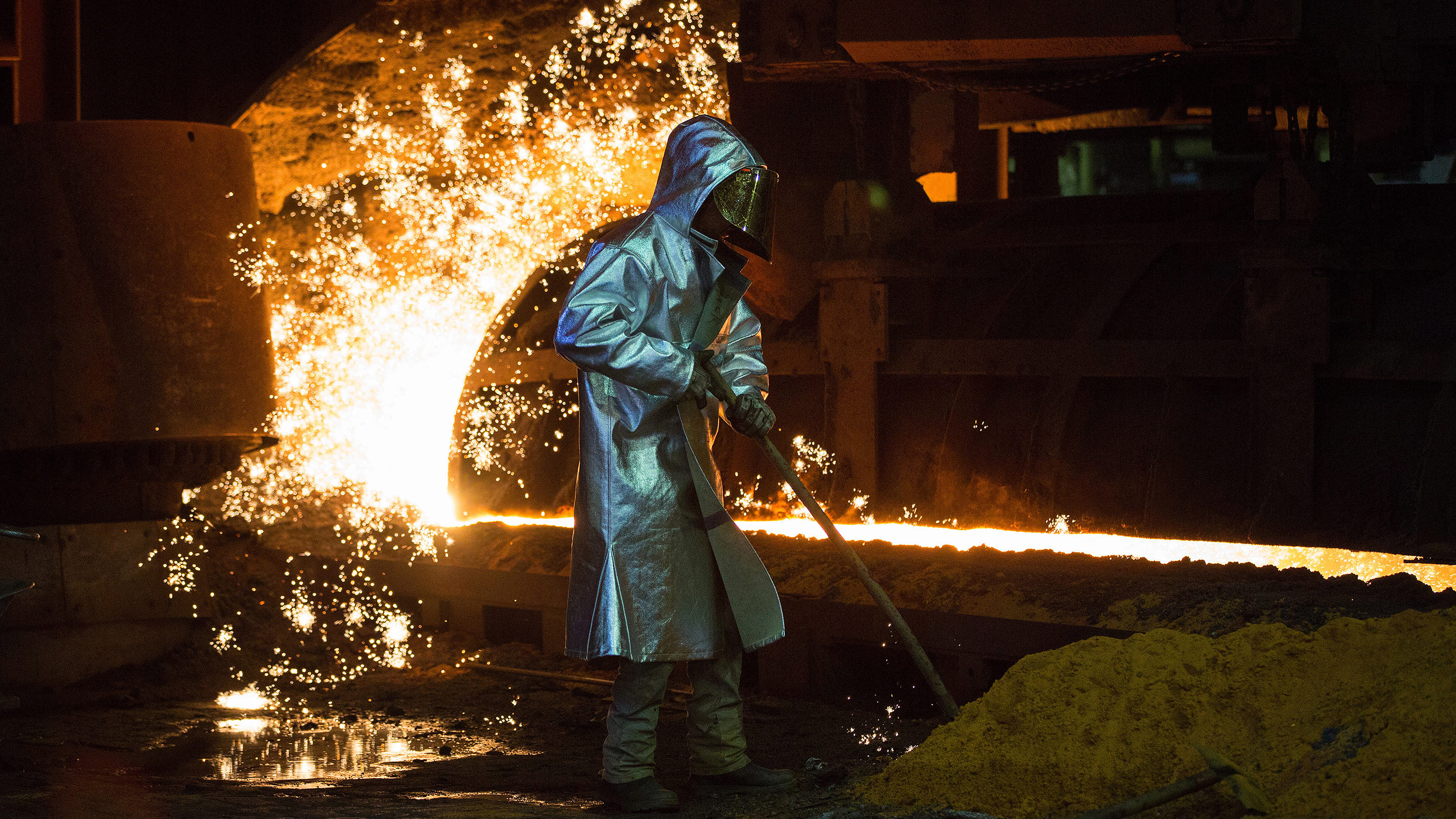 Operations At ThyssenKrupp AG's Steel Plant As Chinese Steel Exports Impact Profits