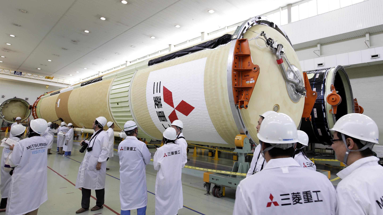 Inside A Mitsubishi Heavy Industries Ltd. Rocket Factory